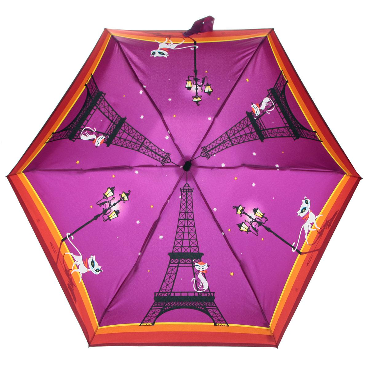 Зонт женский Zest, цвет: фиолетовый, оранжевый, красный. 25516-810525516-8105