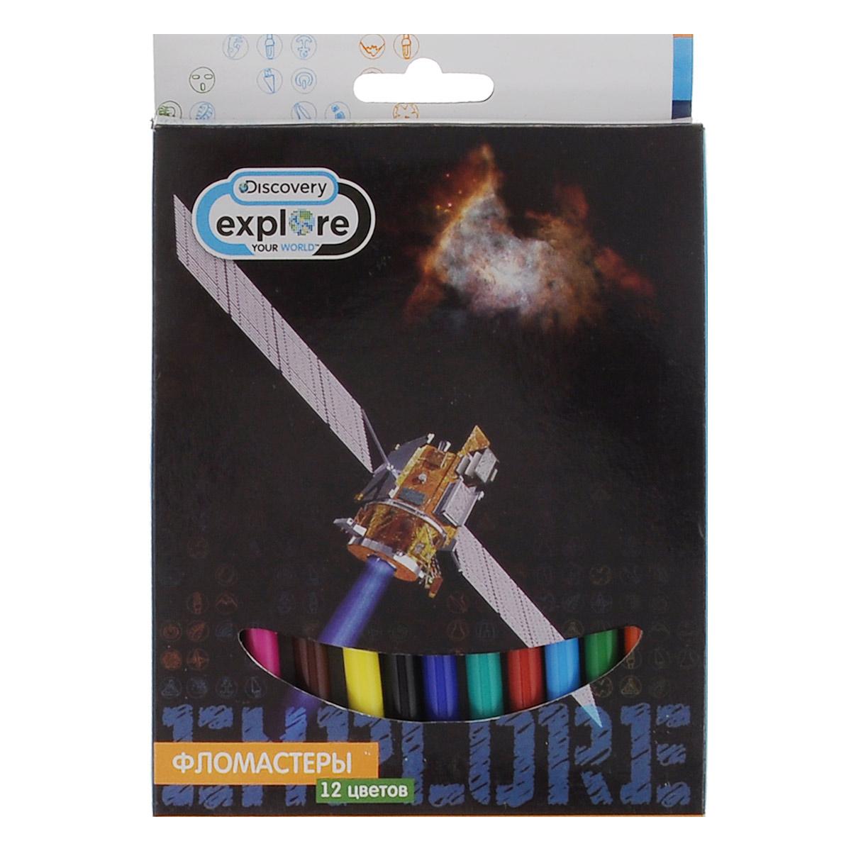 Фломастеры Action Discovery, 12 цветовDV-AWP105-12_СпутникФломастеры Discovery, предназначенные для рисования и раскрашивания, помогут вашему малышу создать неповторимые яркие картинки. Набор включает в себя 12 фломастеров ярких насыщенных цветов в разноцветных корпусах. Специальные чернила на водной основе легко смываются с кожи и отстирываются с большинства тканей. Корпус фломастеров изготовлен из полипропилена, а колпачок имеет специальные прорези, что обеспечивает вентилирование, еще больше увеличивает срок службы чернил и предотвращает их преждевременное высыхание. Не требуют особых условий хранения. Товар предназначен для детей старше трех лет.