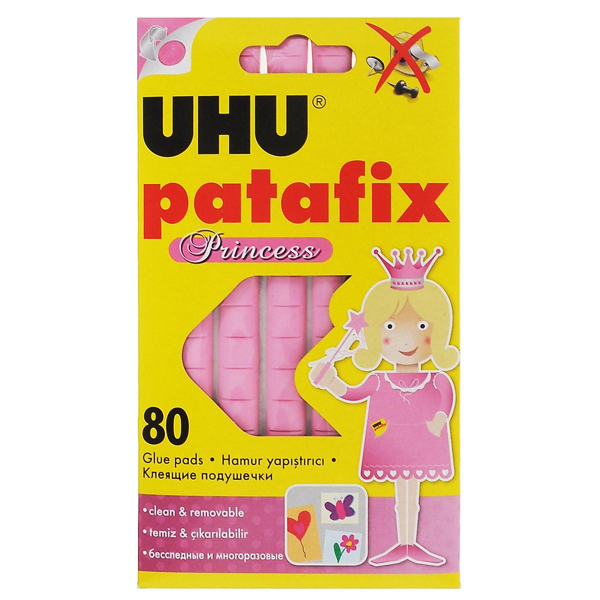 Клеевые подушечки UHU Patafix. Princess, цвет: розовый, 80 шт41710Специальные подушечки UHU Patafix. Princess предназначены для быстрой и чистой фиксации рисунков, фотографий, постеров и других лекгих вещей на различных поверхностях, таких как стены, двери, мебель. Не оставляют следов. Многоразовые. Могут использоваться в дом е, детском саду или школе. Рекомендовано детям старше трех лет.