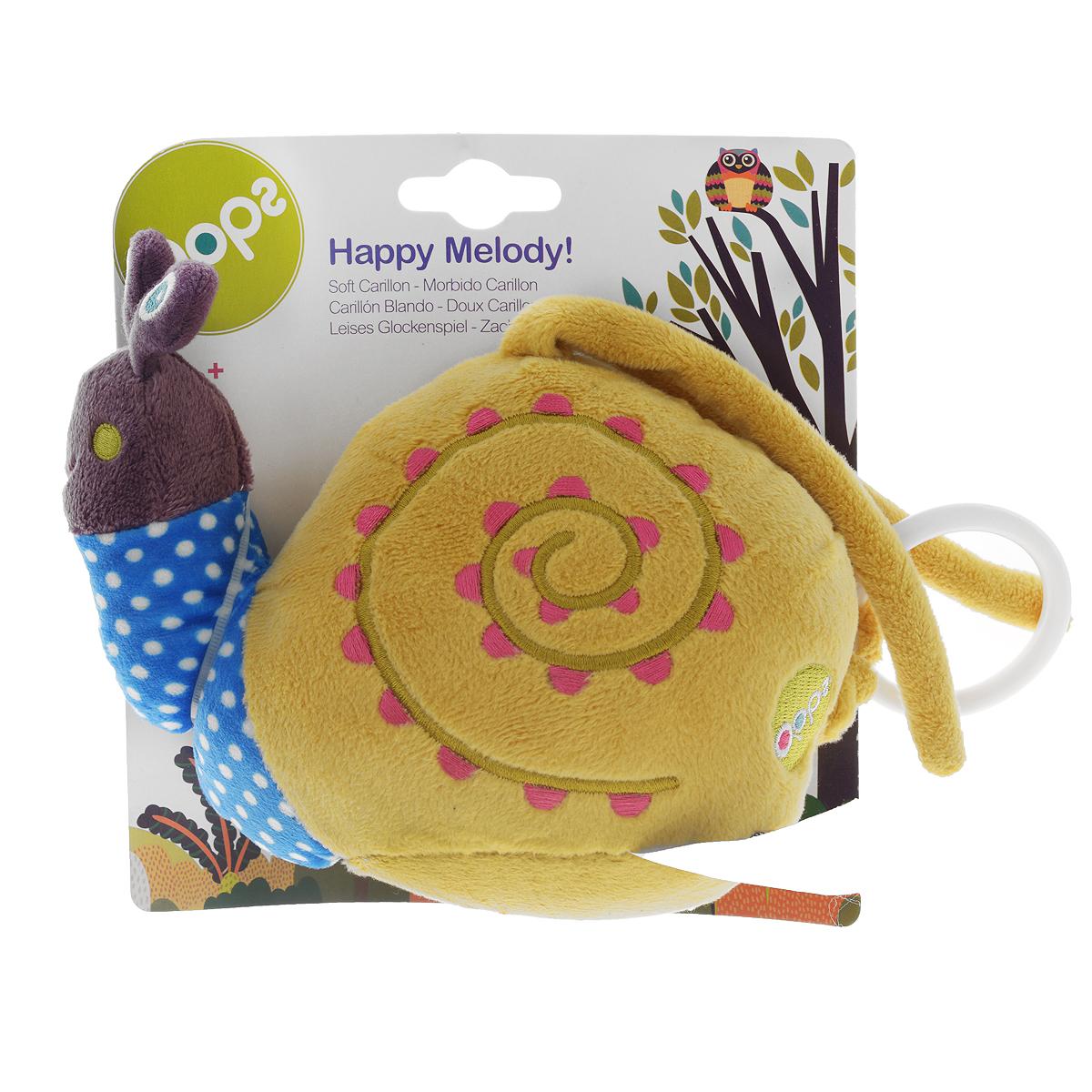 Музыкальная игрушка-подвеска OOPS УлиткаO 12002.13Музыкальная игрушка-подвеска OOPS Улитка изготовлена из мягкого и приятного на ощупь текстиля ярких приятных тонов в виде прекрасной улитки. Если вы потяните за пластиковое кольцо вниз, малыш услышит негромкую успокаивающую мелодию, которая заменит наскучившие колыбельные и поможет ему заснуть. Подвеска выполнена из гипоаллергенного волокна. Крепиться к кровати с помощью специальных веревочек. Игрушка-подвеска OOPS Улитка развивает слух, моторику, зрительно-цветовое восприятие и обладает релаксирующим воздействием.