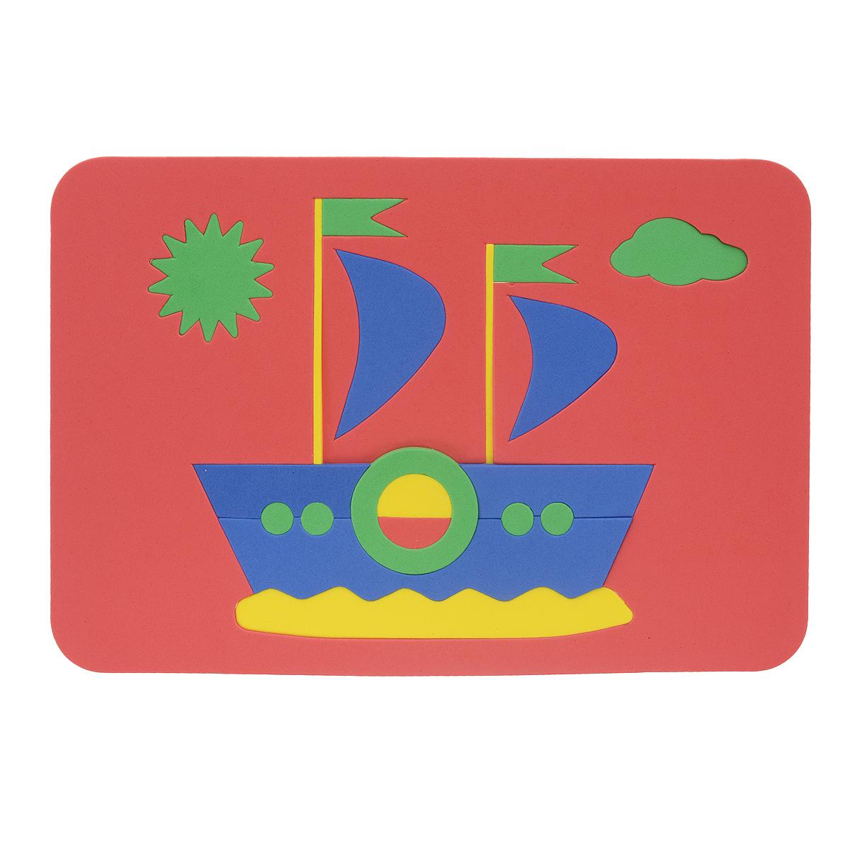 Август Пазл для малышей Кораблик цвет основы красный27-2009_красныйМягкая мозаика Кораблик выполнена из мягкого полимера, который дает юному конструктору новые удивительные возможности в игре: детали мозаики гнутся, но не ломаются, их всегда можно состыковать. Мозаика представляет собой рамку, в которой из 20 элементов собирается яркий кораблик с парусами. Ваш ребенок сможет собрать его и в ванной. Элементы мозаики можно намочить, благодаря чему они будут хорошо прилипать к стене в ванной комнате. Такая мозаика развивает пространственное и логическое мышление, память и глазомер, знакомит с формами и цветом предмета в процессе игры.