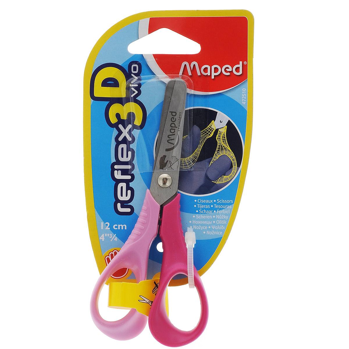 Ножницы Maped Vivo, для левшей, 12 см, цвет: розовый, малиновый472510_розовый, малиновыйНожницы Maped Vivo полностью адаптированы специально для левшей. Идеальны для обучения детей обращению с ножницами: тупые концы, небольшой размер. Ножницы оснащены эргономичными кольцами для лучшего обхвата специально для детских рук. Рекомендовано детям старше пяти лет.