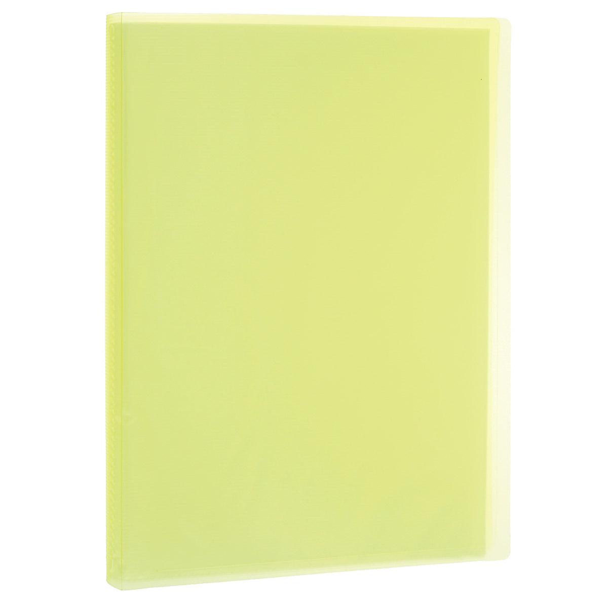 Папка с файлами Erich Krause Visioline, 20 листов, цвет: желтый31025_желтыйПапка Erich Krause Visioline с 20 прозрачными файлами-вкладышами идеально подходит для хранения рабочих бумаг и документов формата А4 без перфорации, требующих упорядоченности и наглядного обзора: отчетов, презентаций, коммерческих и персональных портфолио. Папка выполнена из полупрозрачного жесткого пластика с гофрированной поверхностью желтого цвета. Благодаря совершенной технологии производства папка не подвергается воздействию низкой температуры, не деформируется и не ломается при изгибе и транспортировке.
