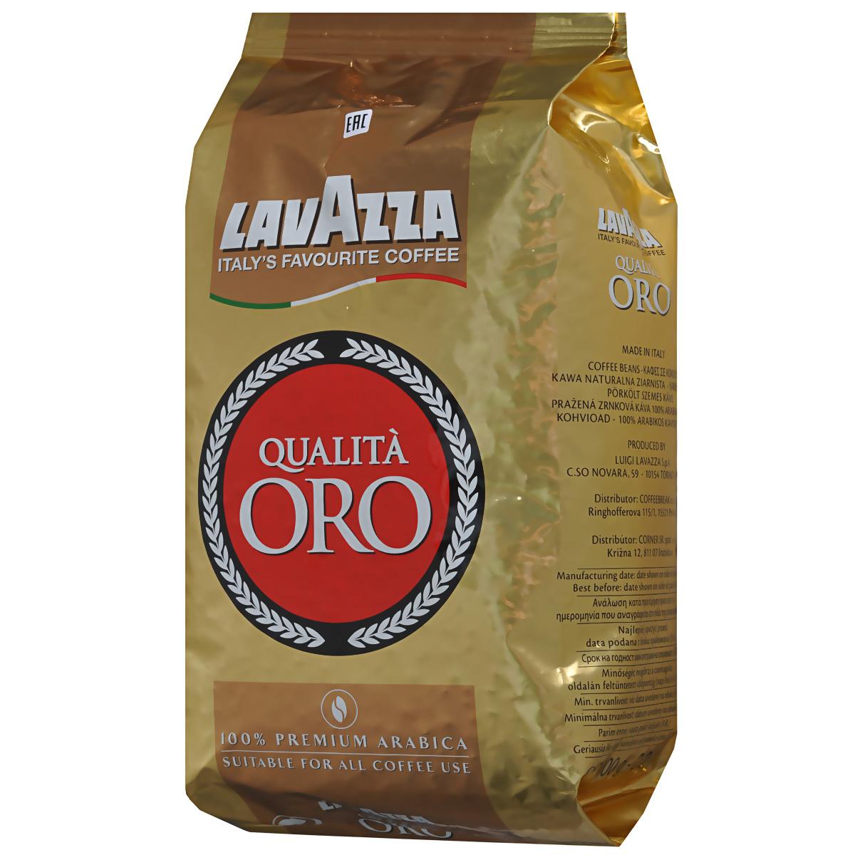 Lavazza Qualita Oro кофе в зернах, 1 кг2056Lavazza Qualita Oro - смесь зерен сортов Арабики и Центральной и Южной Америки, знаменитых своим узнаваемым и изысканным ароматом. Характеризуется легкой сладостью в сочетании с приятной кислинкой, что создает полный, благородный и гармоничный вкус.