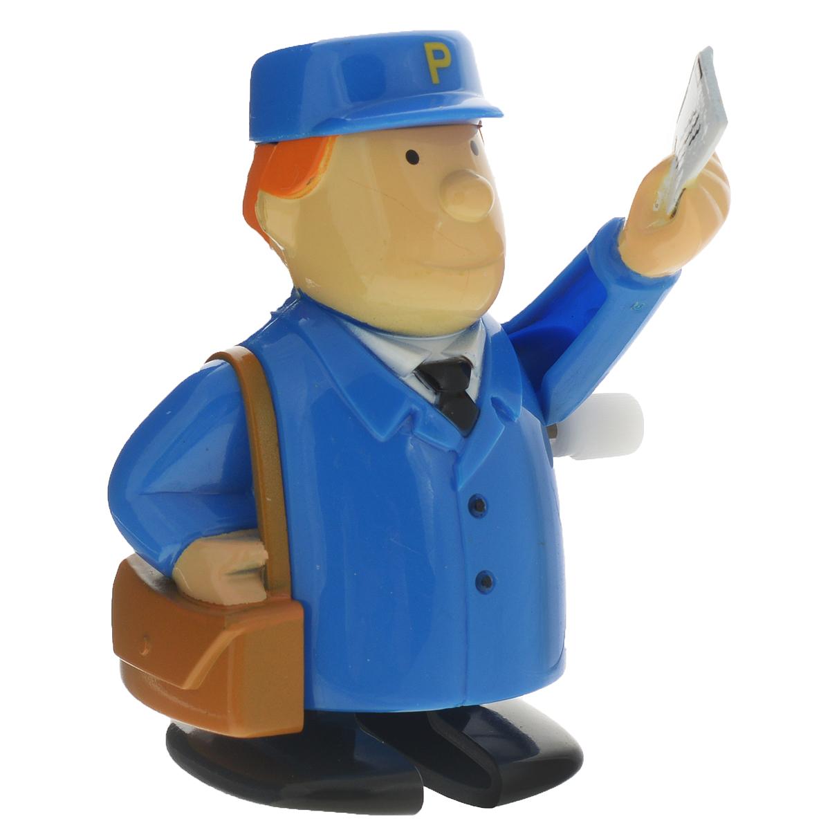 Игрушка заводная Hans Почтальон, цвет: синийRR-48PMBDИгрушка Hans Почтальон привлечет внимание вашего малыша и не позволит ему скучать! Выполненная из безопасного пластика, игрушка представляет собой забавного почтальона. Игрушка имеет механический завод. Для запуска, придерживая ноги игрушки, поверните заводной ключ по часовой стрелке до упора. Установите игрушку на поверхность и она начнет двигаться вперед. Заводная игрушка Hans Почтальон поможет ребенку в развитии воображения, мелкой моторики рук, концентрации внимания и цветового восприятия.