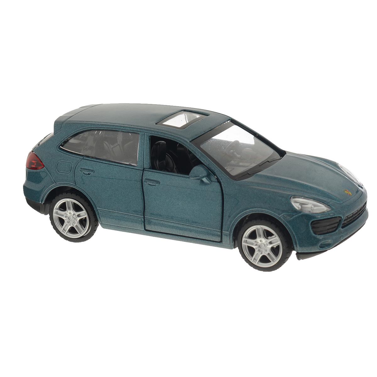 MSZ Модель автомобиля Porsche Cayenne S цвет серебристый синий67302AСтильная инерционная модель автомобиля MSZ Porsche Cayenne S, изготовленная из высококачественного металла и пластика, привлечет к себе внимание не только детей, но и взрослых. Модель является точной уменьшенной копией известного автомобиля Porsche Cayenne S. Игрушечная модель оснащена литым металлическим корпусом, лобовым, задним и боковыми стеклами. Колеса выполнены из резины и вращаются. Открываются передние двери, руль не вращается, салон детализирован. Игрушка оснащена инерционным ходом. Машинку необходимо отвести назад, затем отпустить - и она быстро поедет вперед. Прорезиненные колеса обеспечивают надежное сцепление с любой поверхностью пола. Ваш ребенок будет часами играть с этой машинкой, придумывая различные истории. Порадуйте его таким замечательным подарком!
