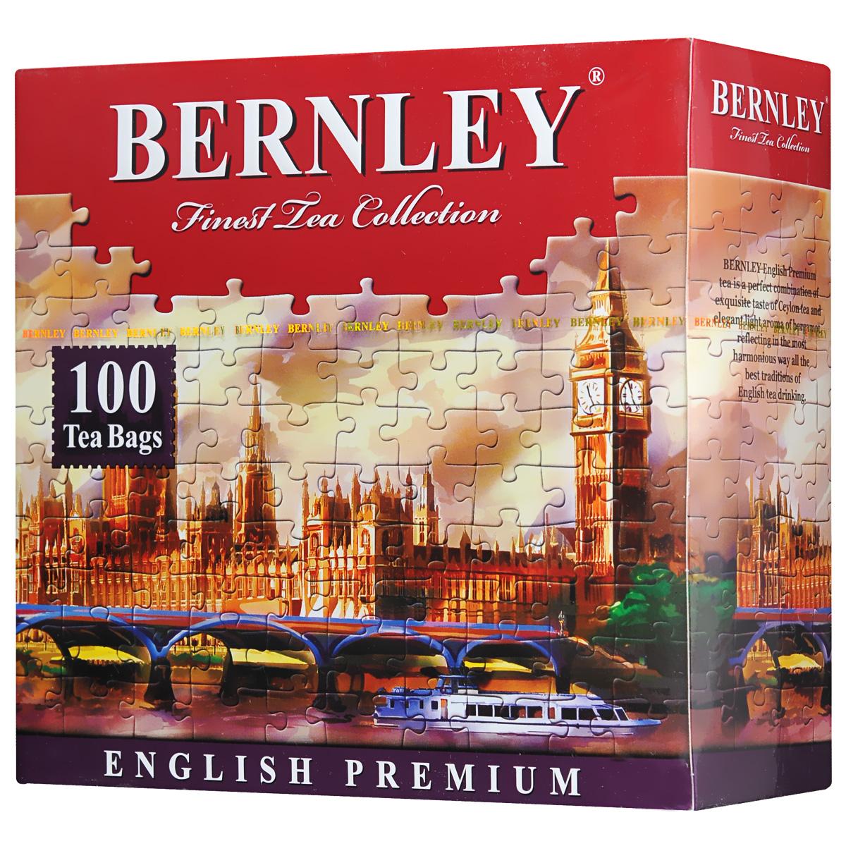 Bernley English Premium черный ароматизированный чай в пакетиках, 100 шт1070005Bernley English Premium - великолепный образец классического английского черного чая с бергамотом, тропический вкус которого удивительно тонко и гармонично сочетается с неповторимыми природными свойствами высокогорного цейлонского чая отборного качества.