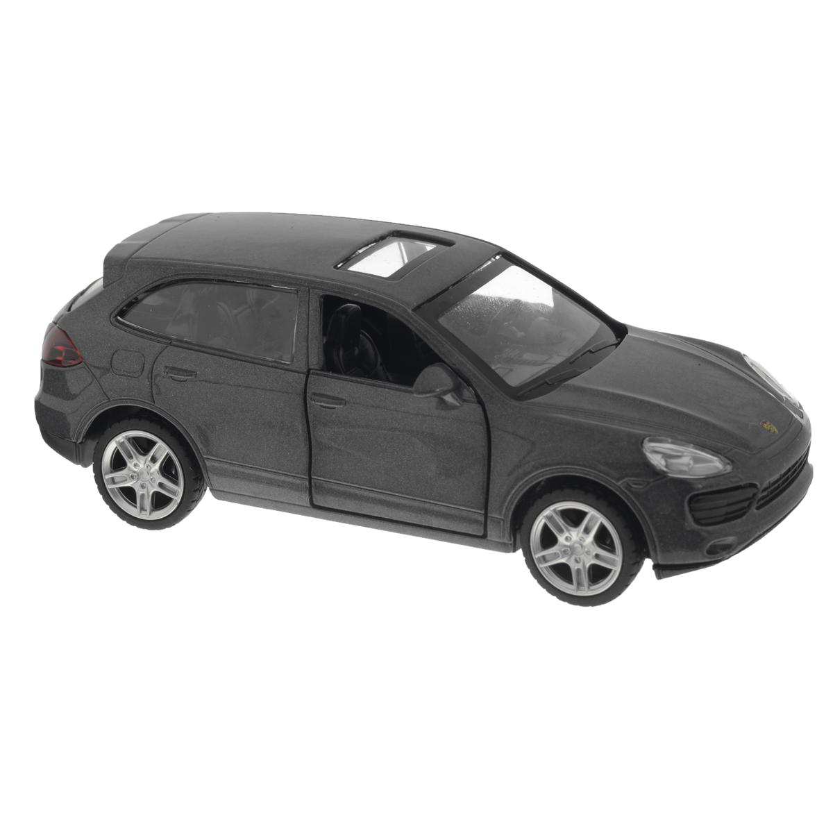 MSZ Модель автомобиля Porsche Cayenne S цвет серый67302GСтильная инерционная модель автомобиля MSZ Porsche Cayenne S, изготовленная из высококачественного металла и пластика, привлечет к себе внимание не только детей, но и взрослых. Модель является точной уменьшенной копией известного автомобиля Porsche Cayenne S. Игрушечная модель оснащена литым металлическим корпусом, лобовым, задним и боковыми стеклами. Колеса выполнены из резины и вращаются. Открываются передние двери, руль не вращается, салон детализирован. Игрушка оснащена инерционным ходом. Машинку необходимо отвести назад, затем отпустить - и она быстро поедет вперед. Прорезиненные колеса обеспечивают надежное сцепление с любой поверхностью пола. Ваш ребенок будет часами играть с этой машинкой, придумывая различные истории. Порадуйте его таким замечательным подарком!
