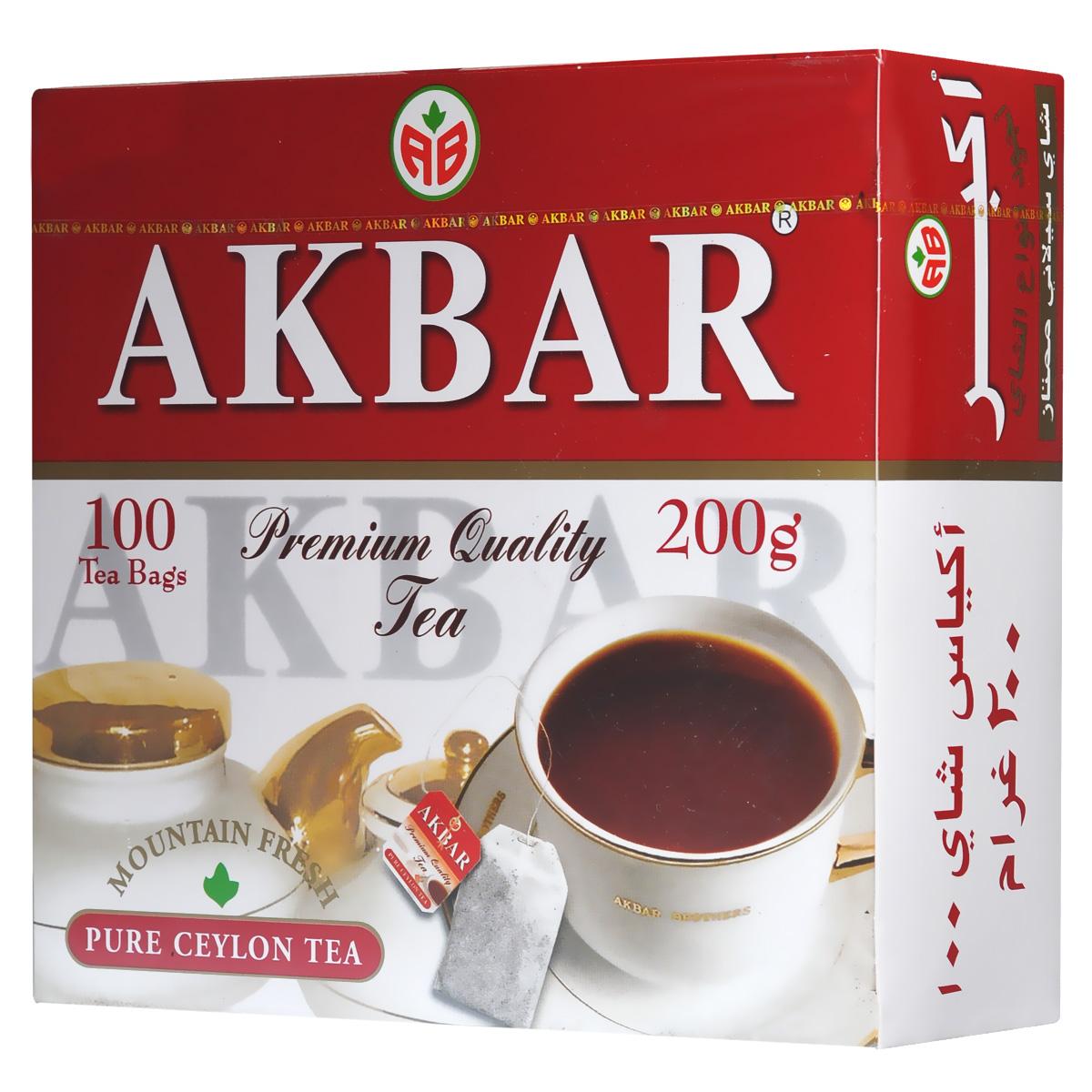 Akbar Mountain Fresh черный чай в пакетиках, 100 шт1050042Благоприятный климат и впитавший горную свежесть и дыхание моря кристально чистый воздух плантаций легендарных цейлонских чайных провинциях Kandy и Dimbula дают нежным чайным листочкам дивную силу, добавляя каждому, кто пьет чай Akbar Mountain Fresh, нескончаемую энергию и бодрость. Продукция Arbar подвергается обязательному многоступенчатому контролю и испытаниям опытными технологами и дегустаторами на всем пути, который чай этой торговой марки проходит от плантации до конечного потребителя.