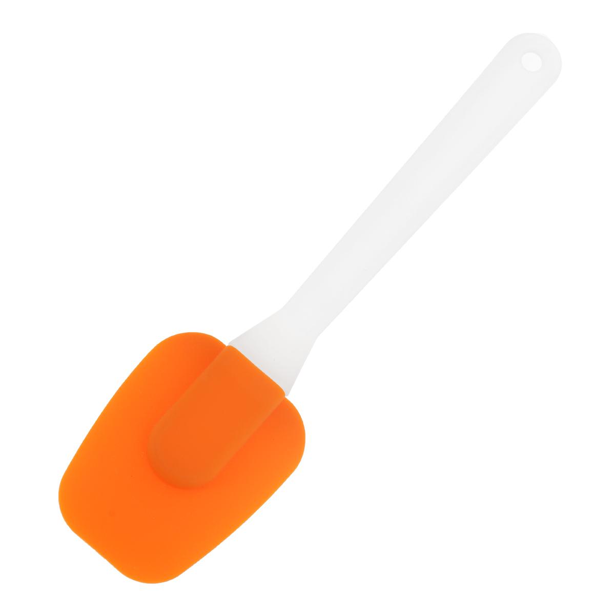 Лопатка кулинарная Marmiton, цвет: оранжевый, длина 25 см16056Кулинарная лопатка Marmiton выполнена из пластика и пищевого силикона. Силиконовую лопатку можно использовать на сковородах с любыми видами покрытий. Изделия из силикона выдерживают высокие и низкие температуры (от -40°С до + 230°С). Они износостойки, легко моются, не горят и не тлеют, не впитывают запахи, не оставляют пятен. Силикон абсолютно безвреден для здоровья. Кулинарная лопатка Marmiton - отличный подарок, необходимый любой хозяйке. Длина лопатки: 25 см. Размер рабочей части лопатки: 6 см х 8 см.