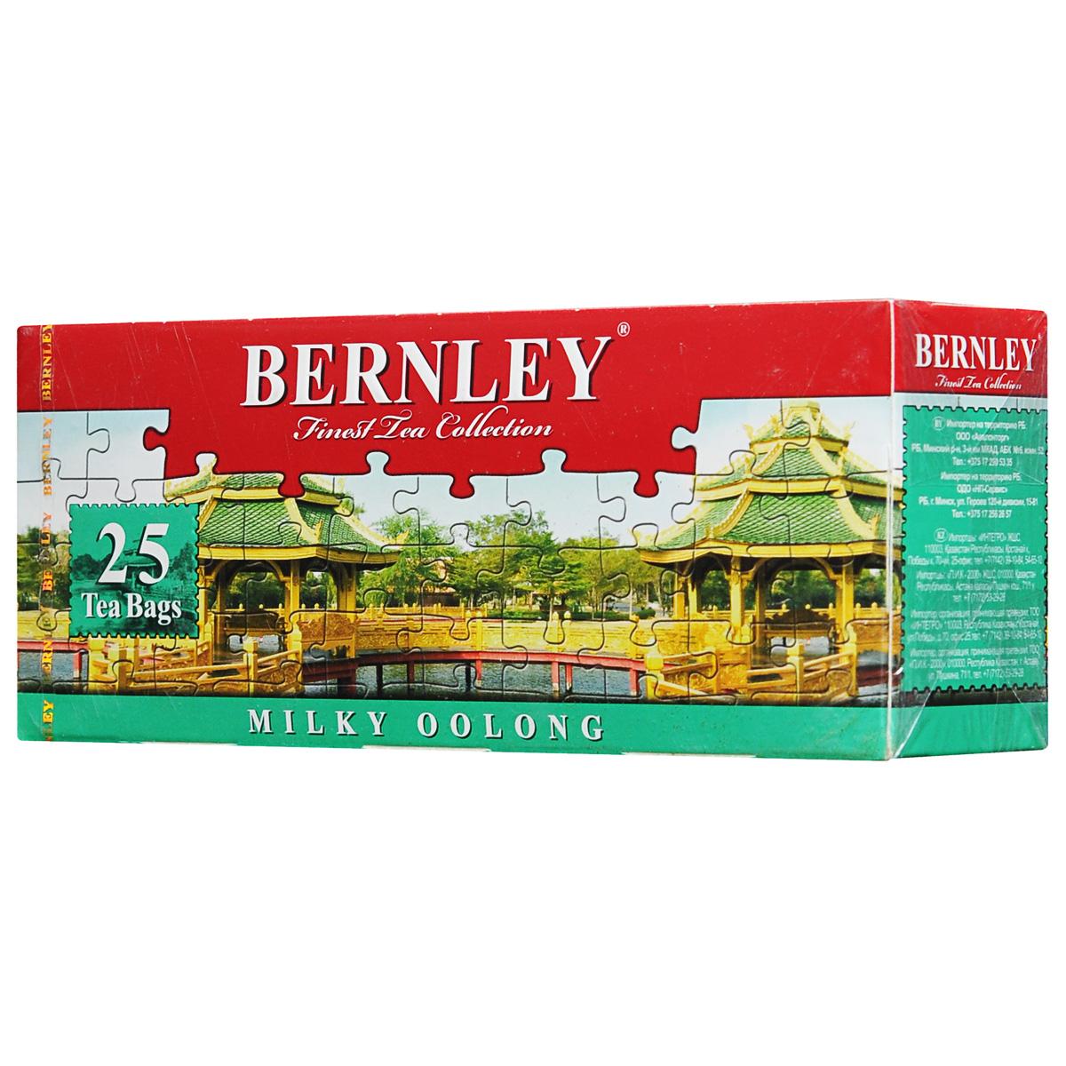 Bernley Milky Oolong зеленый ароматизированный чай в пакетиках, 25 шт
