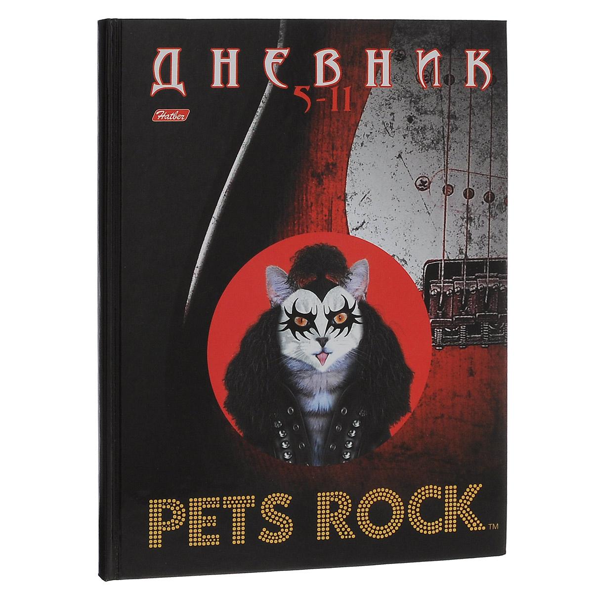 Дневник школьный Hatber Pets Rock, для 5-11 классов, 48 листов48ДТ5B_10598Дневник Hatber в твердом переплете для учащихся с 5-11 класс с информационным блоком поможет ученику не забыть свои задания, а вы всегда сможете проконтролировать его успеваемость. Дневник с изображением Cats Rock на обложке будет не только надежным помощником в освоении новых знаний, но и принесет радость своему хозяину, выделяя его среди одноклассников и украшая учебные будни. В начале и конце дневника расположен небольшой информационный блок, включающий в себя географическую карту, сведения по математике, химии, физики и истории.