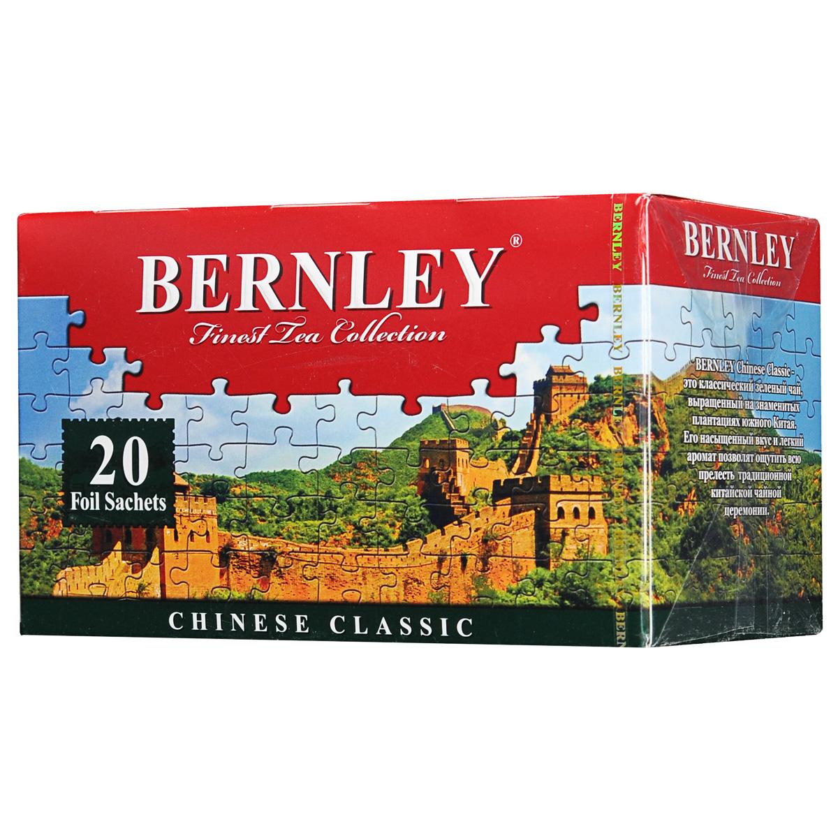 Bernley Chinese Classic зеленый чай в пакетиках, 20 шт
