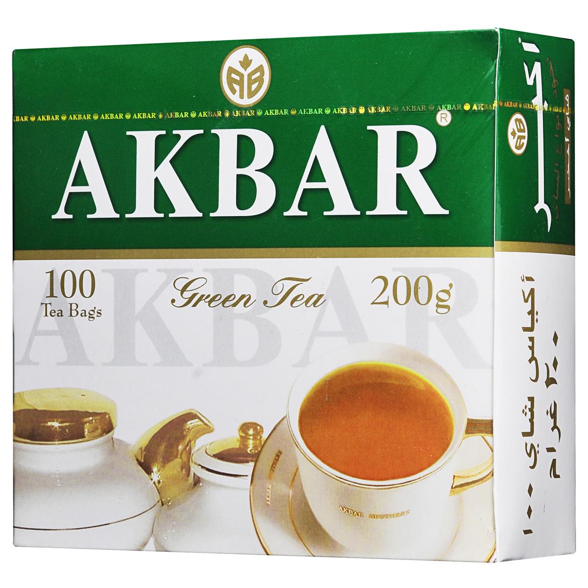 Akbar Green зеленый чай в пакетиках, 100 шт1041229У сторонников здорового образа жизни, столь популярного в мире в наши дни, широкую известность приобрели зеленые чаи Akbar Green, которые не только отличаются своим оригинальным вкусом и ароматом, но и оказывают на человека благотворное стимулирующее влияние, придают ему силу, энергию и бодрость духа. Известно, что чай содержит множество витаминов и полезных веществ, способствующих укреплению здоровья и процессу омолаживания организма человека. Поэтому компания «Akbar Brothers» максимально использует его природные оздоровительные свойства в своей продукции.