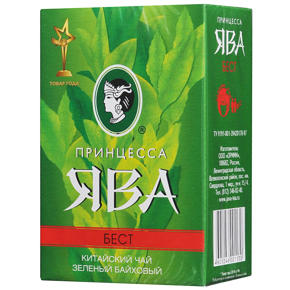 Принцесса Ява Бест зеленый чай листовой, 100 г0113-64Крупнолистовой китайский зеленый чай Принцесса Ява Бест считается традиционным. Он обладает благородным мягким вкусом и особым тонким ароматом.