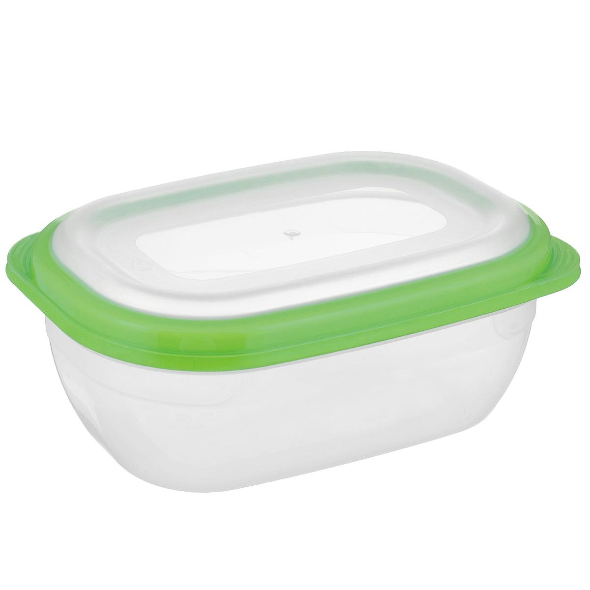 Контейнер для СВЧ Полимербыт Премиум, цвет: салатовый, прозрачный, 0,5 лС560 салатовыйПрямоугольный контейнер для СВЧ Полимербыт Премиум изготовлен из высококачественного прочного пластика, устойчивого к высоким температурам (до +110°С). Крышка плотно и герметично закрывается, дольше сохраняя продукты свежими и вкусными. Контейнер идеально подходит для хранения пищи, его удобно брать с собой на работу, учебу, пикник или просто использовать для хранения пищи в холодильнике. Подходит для разогрева пищи в микроволновой печи и для заморозки в морозильной камере (при минимальной температуре -40°С). Можно мыть в посудомоечной машине.
