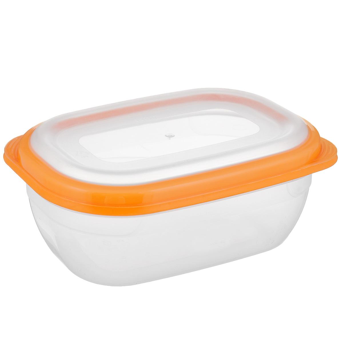 Контейнер для СВЧ Полимербыт Премиум, цвет: оранжевый, прозрачный, 0,5 лС560 оранжевыйПрямоугольный контейнер для СВЧ Полимербыт Премиум изготовлен из высококачественного прочного пластика, устойчивого к высоким температурам (до +110°С). Крышка плотно и герметично закрывается, дольше сохраняя продукты свежими и вкусными. Контейнер идеально подходит для хранения пищи, его удобно брать с собой на работу, учебу, пикник или просто использовать для хранения пищи в холодильнике. Подходит для разогрева пищи в микроволновой печи и для заморозки в морозильной камере (при минимальной температуре -40°С). Можно мыть в посудомоечной машине.
