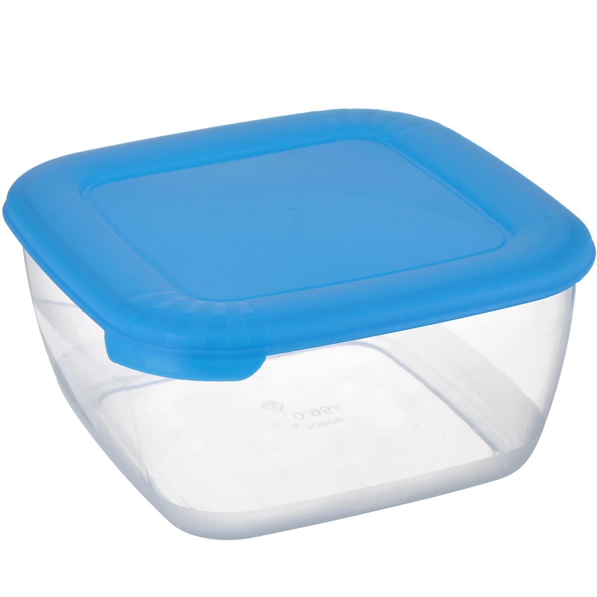 Контейнер для СВЧ Полимербыт Лайт, цвет: голубой, прозрачный, 950 млС541 голубойКонтейнер Полимербыт Лайт квадратной формы, изготовленный из прочного пластика, предназначен специально для хранения пищевых продуктов. Крышка легко открывается и плотно закрывается. Контейнер устойчив к воздействию масел и жиров, легко моется. Прозрачные стенки позволяют видеть содержимое. Контейнер имеет возможность хранения продуктов глубокой заморозки, обладает высокой прочностью. Можно мыть в посудомоечной машине. Контейнер подходит для использования в микроволновой печи без крышки, а также для заморозки в морозильной камере.