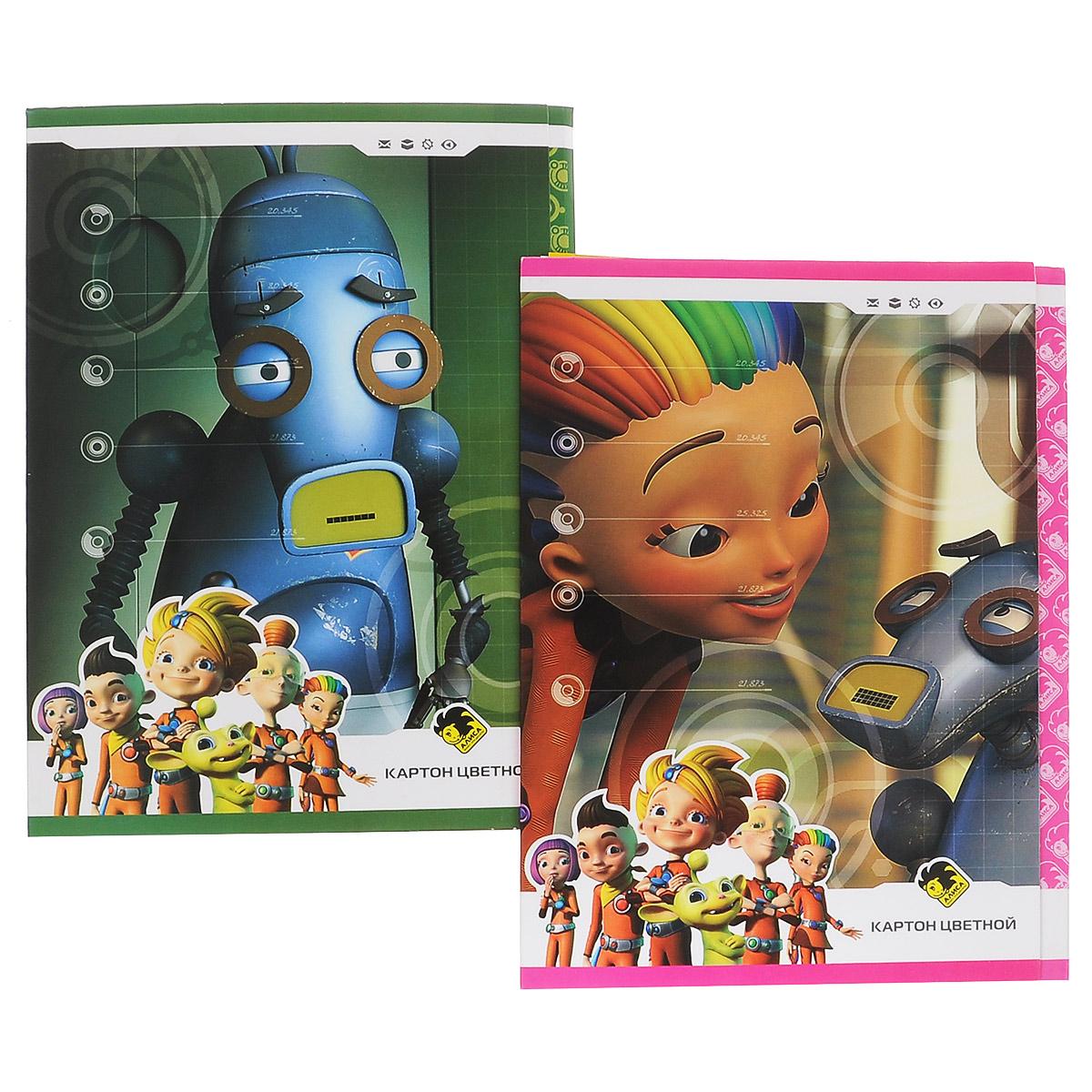Набор цветного мелованного картона Action Алиса, 8 цветов, 16 листовAZ-ACC-8/8Набор цветного картона Action Алиса позволит создавать всевозможные аппликации и поделки. Набор состоит из 16 листов формата А4 одностороннего цветного картона 8 цветов: желтого, оранжевого, белого, коричневого, синего, красного, зеленого и черного. Создание поделок из цветного картона позволяет ребенку развивать творческие способности, кроме того, это увлекательный досуг. Набор упакован в 2 картонные папки, оформленные изображениями героев мультфильма Алиса знает, что делает.