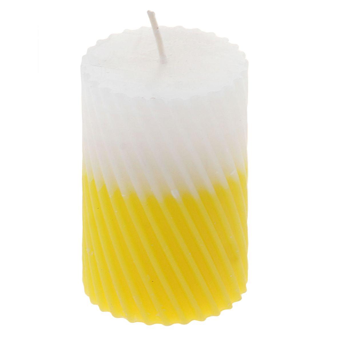 Свеча ароматизированная Sima-land Лимон, высота 7,5 см. 849539849539Свеча Sima-land Лимон выполнена из воска и оформлена резным рельефом. Свеча порадует ярким дизайном и сочным ароматом лимона, который понравится как женщинам, так и мужчинам. Создайте для себя и своих близких незабываемую атмосферу праздника в доме. Ароматическая свеча Sima-land Лимон раскрасит серые будни яркими красками.