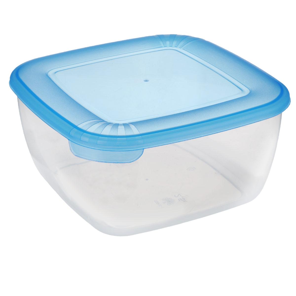 Контейнер Полимербыт Лайт, цвет: синий, прозрачный, 2,5 лС544 синийКонтейнер Полимербыт Лайт квадратной формы, изготовленный из прочного пластика, предназначен специально для хранения пищевых продуктов. Крышка легко открывается и плотно закрывается. Контейнер устойчив к воздействию масел и жиров, легко моется. Прозрачные стенки позволяют видеть содержимое. Контейнер имеет возможность хранения продуктов глубокой заморозки, обладает высокой прочностью. Подходит для использования в микроволновых печах. Можно мыть в посудомоечной машине.