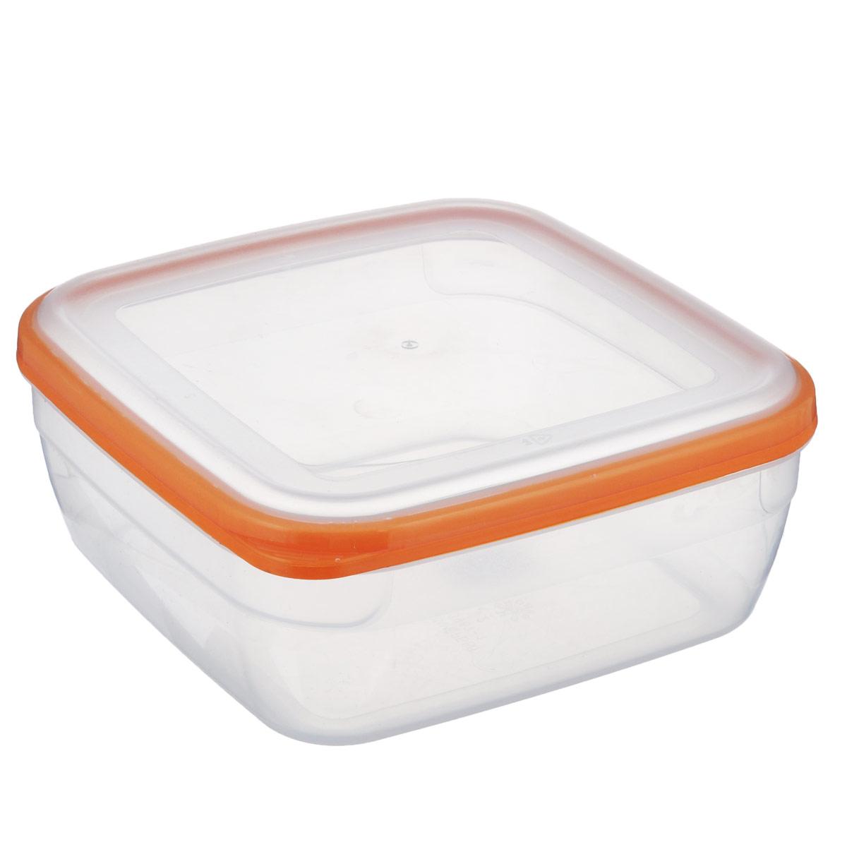 Контейнер Полимербыт Премиум, цвет: прозрачный, оранжевый, 2,2 лС567 оранжевыйКонтейнер Полимербыт Премиум квадратной формы, изготовленный из прочного пластика, предназначен специально для хранения пищевых продуктов. Крышка легко открывается и плотно закрывается. Контейнер устойчив к воздействию масел и жиров, легко моется. Прозрачные стенки позволяют видеть содержимое. Контейнер имеет возможность хранения продуктов глубокой заморозки, обладает высокой прочностью. Можно мыть в посудомоечной машине. Подходит для использования в микроволновых печах.