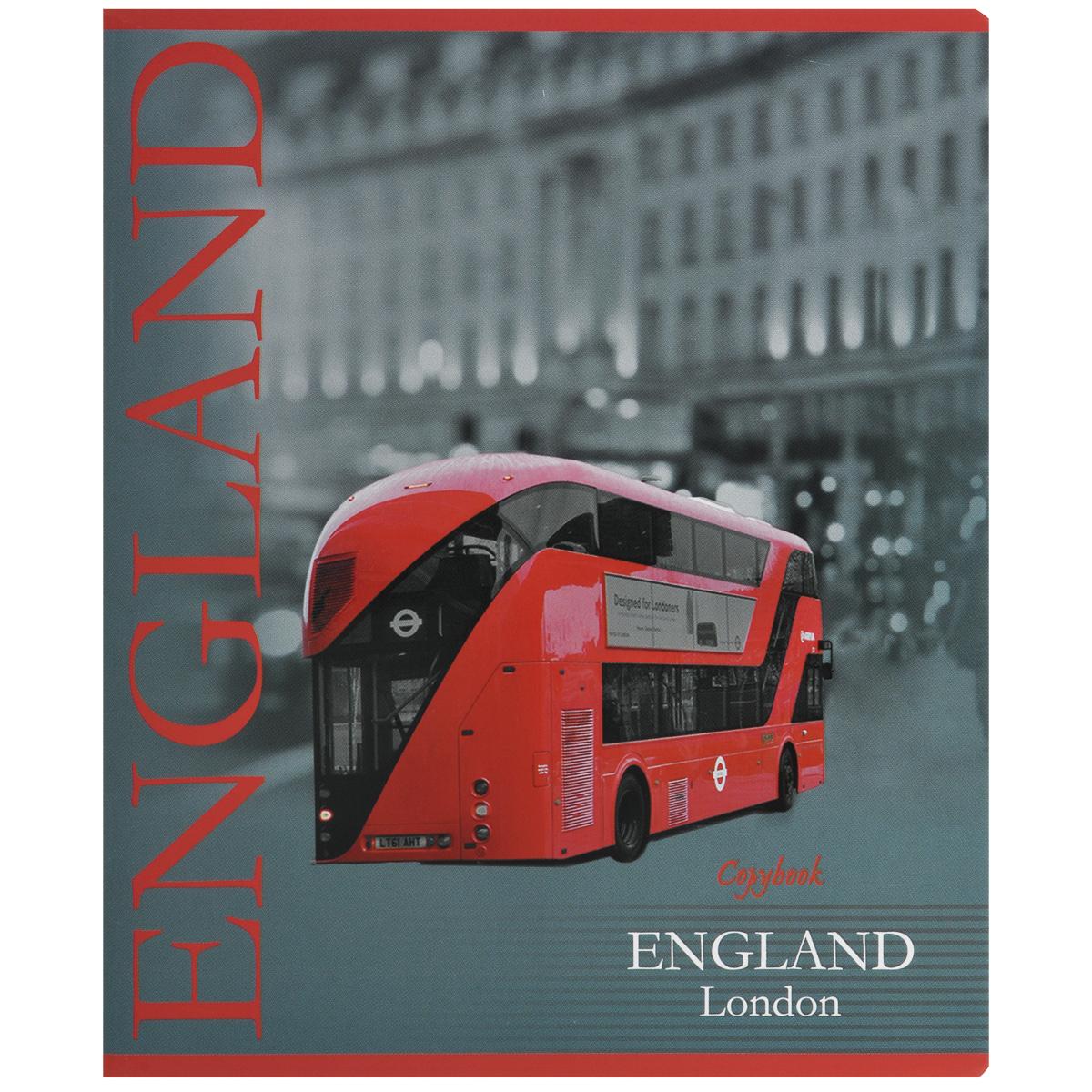 Тетрадь Лондон. Автобус, 60 листов, формат А537596_автобусТетрадь в клетку Лондон. Автобус подойдет как студенту, так и школьнику. Обложка тетради с закругленными углами выполнена из плотной бумаги. На обложке изображение Лондона. Внутренний блок состоит из 60 листов белой бумаги. Стандартная линовка в клетку дополнена полями, совпадающими с лицевой и оборотной стороны листа.