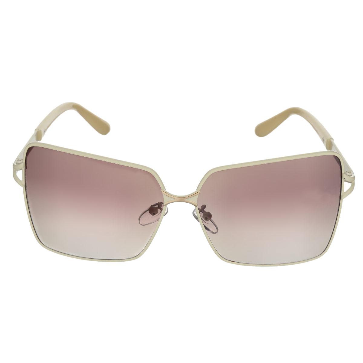 Солнцезащитные очки женские Selena, цвет: слоновая кость. 8002481180024811Солнцезащитные женские очки Selena, выполненные с линзами из высококачественного пластика PC с зеркальным эффектом fresh mirror. Используемый пластик не искажает изображение, не подвержен нагреванию и вредному воздействию солнечных лучей. Линзы данных очков с высокоэффективным UV-фильтром обеспечивают полную защиту от ультрафиолетовых лучей. Металлическая оправа очков легкая, прилегающей формы и поэтому не создает никакого дискомфорта. Такие очки защитят глаза от ультрафиолетовых лучей, подчеркнут вашу индивидуальность и сделают ваш образ завершенным.
