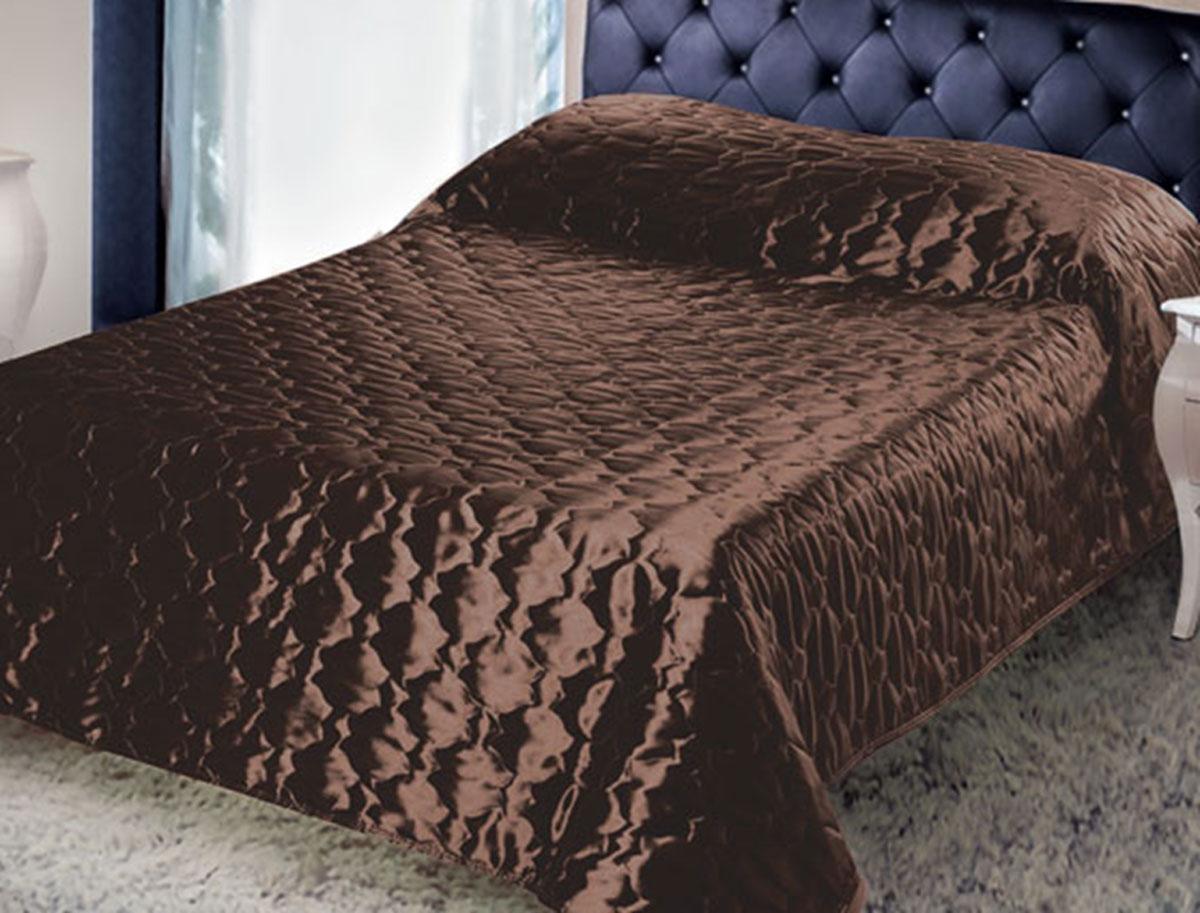 Покрывало стеганое Диана, цвет: шоколад, 180 х 200 смПСТш-180-200Изящное покрывало Диана, выполненное из тафты (100% полиэстер), гармонично впишется в интерьер вашего дома и создаст атмосферу уюта и комфорта. Тафта - это плотная изысканная ткань с легким глянцем и эффектом помятости. Внутренняя сторона покрывала изготовлена из микрофибры. Внутри - наполнитель из термофайбера. Покрывало окантовано и имеет фигурную стежку, которая равномерно удерживает наполнитель внутри и не позволяет ему скатываться. Покрывало практичное, легкое и удобное в использовании и уходе. Допускается стирка в машинах-автоматах при температуре 30°С, не линяет, не дает усадки. Благодаря мягкой и приятной текстуре, глубокому и насыщенному цвету, покрывало станет модной, практичной и уютной деталью вашего интерьера.