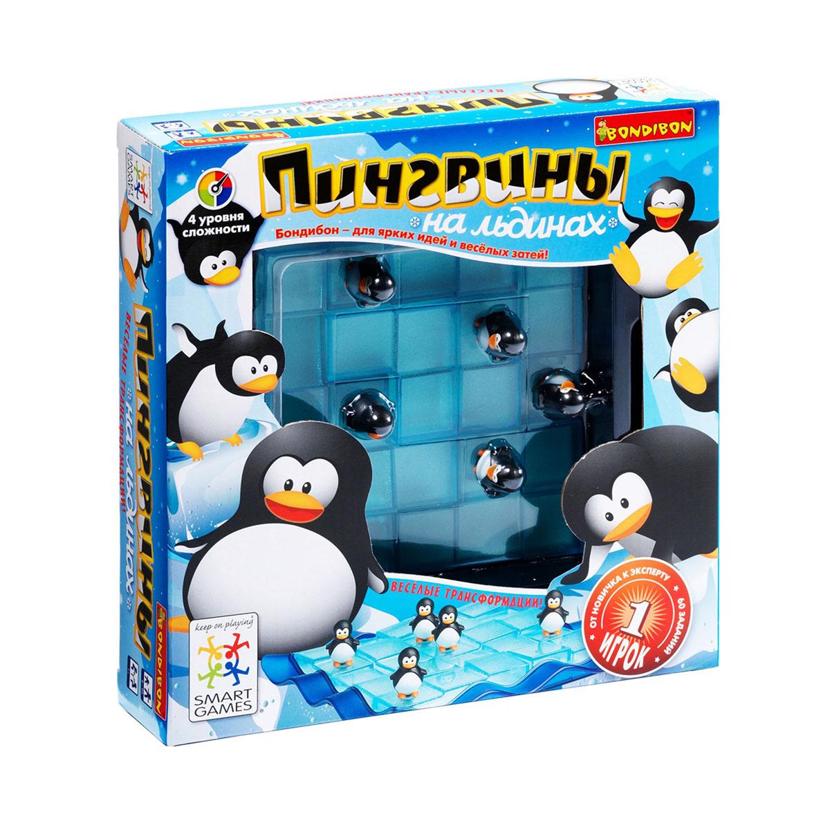 Логическая игра Bondibon SmartGames Пингвины на льдинахВВ08515 маленьких пингвинчиков оказались на огромных плавучих льдинах Ледовитого океана и едва удерживаются на скользком льду! Задача игрока - расположить на игровом поле обломки льдин таким образом, чтобы пингвины оказались в безопасности. Форму льдин можно легко трансформировать, но чтобы решить, где именно расположить каждую деталь и какой формы она должна быть, придется хорошенько подумать! Игра предусматривает 60 заданий 4 уровней сложности. В комплект игры входят: игровое поле, буклет с заданиями и ответами и 5 элементов-льдин. Логическая игра Bondibon SmartGames Пингвины на льдинах - отличный вариант детского развивающего досуга.