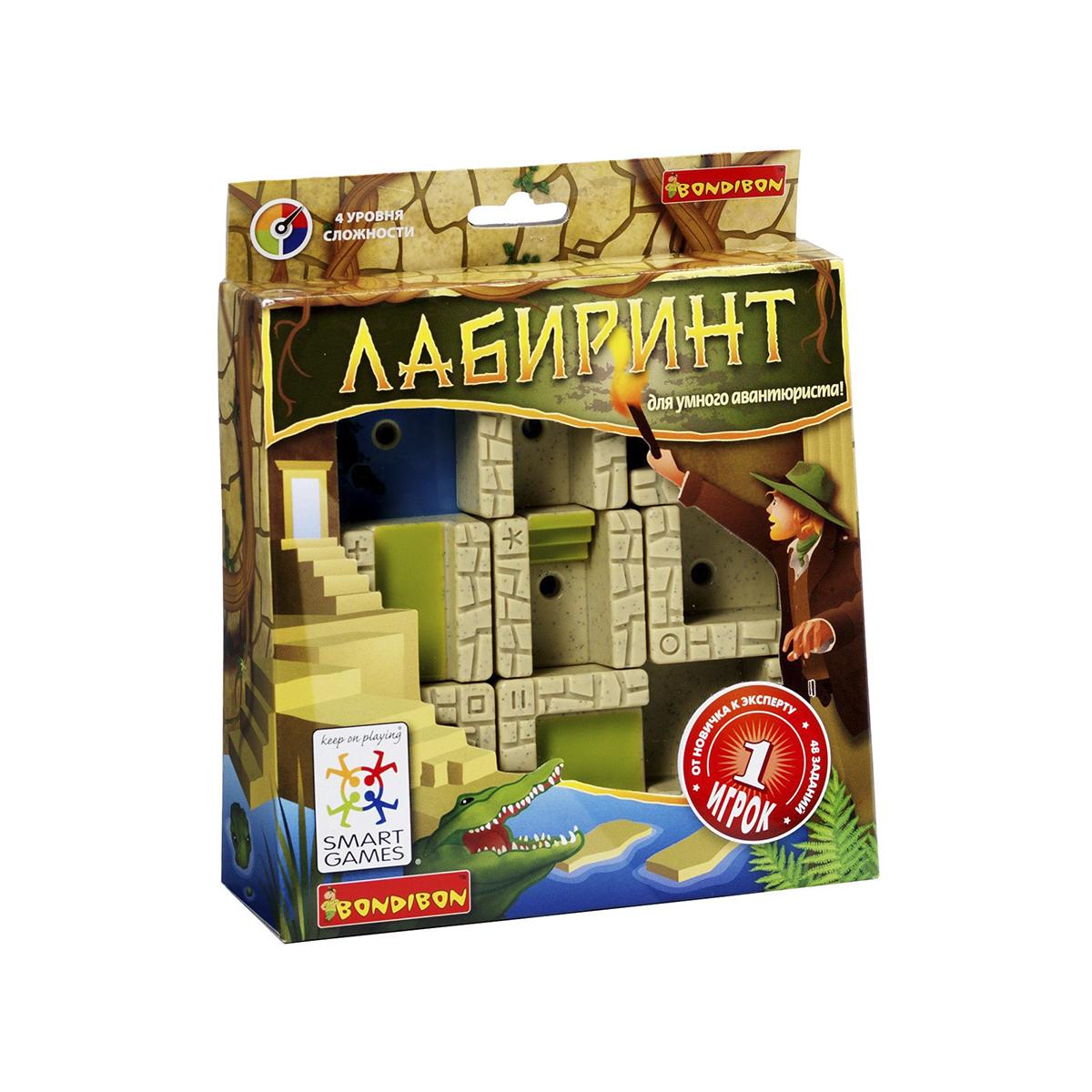 Логическая игра Bondibon SmartGames ЛабиринтВВ0897В таинственном египетском лабиринте стены двигаются сами. Куда приведут запутанные пути: к спасительному выходу или в тупик? Один неправильный шаг - и можно стать обедом для голодного крокодила. Что поможет выбраться - интуиция или логический расчет? Логическая игра Bondibon SmartGames Лабиринт - игра для упорных и сообразительных. Игра содержит 48 заданий 5 уровней сложности. Несмотря на то, что все логические задачи уже с ответами, не торопитесь узнавать решение, попробуйте найти его сами! В комплект входят: буклет с 48 заданиями с ответами, 8 деталей со стенами, пешка, игровая доска с отделением для хранения деталей. С помощью игры можно развить логическое мышление и познавательные способности, социальное развитие, концентрацию внимания, тренировку памяти, фантазию и мелкую моторику.