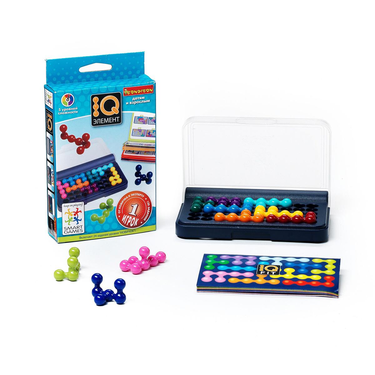 Логическая игра Bondibon SmartGames IQ-ЭлементВВ0941Логическая игра Bondibon SmartGames IQ-Элемент - отличное средство испытания аналитических способностей вас и ваших друзей! Благодаря тщательно продуманным правилам играть в нее может как ребенок, так и взрослый. Игра содержит 120 необыкновенно интересных логических задач, которые помогают повышать уровень IQ. Все 3D-детали головоломки необходимо расположить на игровом поле таким образом, чтобы получилось плоское двухмерное изображение. Игра имеет 5 уровней сложности. Уровень сложности каждого задания определяется количеством деталей, которые нужно расположить на игровом поле. В комплект входят: буклет со 120 заданиями с ответами, 10 цветных объемных деталей, игровая доска с отделением для хранения деталей. Удобная упаковка и компактный дизайн игры позволяет брать игру с собой и в офис, и в дорогу, и на отдых. Логическая игра Bondibon SmartGames IQ-Элемент - игра, расширяющая интеллектуальные возможности в любом возрасте. Помимо развития собственного...