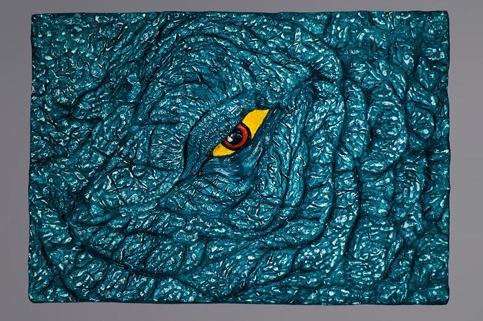 Панно Слон. Голубой глаз/Elephant. Blue eyes. Серия «Глаза, которые смотрят…»/ Series Eyes that see.... Авторская работа. Лимитированная серия. Гипс, краски, тонировка. Мастерская ARTVIVO. Россия, Москва, 2015 годАККААПанно Слон. Голубой глаз/Elephant. Blue eyes. Серия «Глаза, которые смотрят…»/ Series Eyes that see.... Авторская работа. Лимитированная серия. Гипс, краски, тонировка. Длина: 39 см, ширина: 28 см, глубина: 3,5 см. Техника: гипс. Тираж 1 экземпляр. Мастерская «ARTVIVO», Россия. Сертификат произведения мастерской «АРТВИВО»/The certificate on a work of art Workshop «ARTVIVO». Панно дарит радость, поражая - ярким цветом, сложной формой и необычным замыслом.