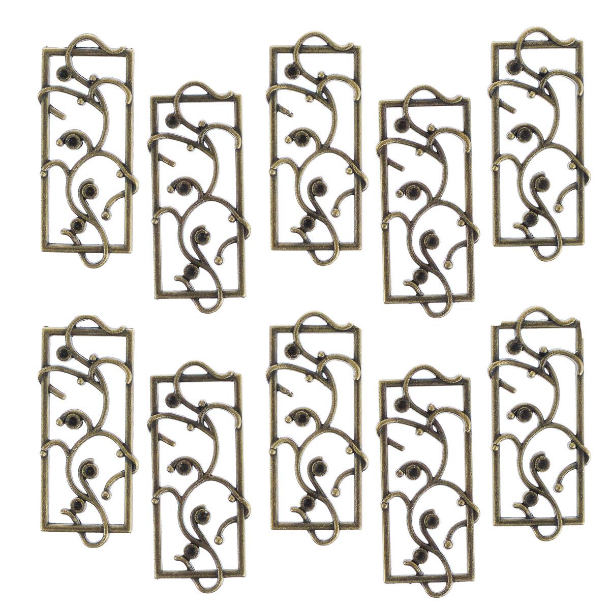 Металлическая подвеска ScrapBerrys Цветочная рамка, 1,4 см х 4 см, 10 штSCB250113132bМеталлическая подвеска ScrapBerrys Цветочная рамка выполнена из металла в виде оконной рамы, оплетенной растениями. Используется для изготовления украшений. Сделает ваш аксессуар неповторимым. Также может использоваться для украшения альбома, открыток, блокнотов, закладок, подарков. Изготовление украшений и скрапбукинг - занимательные увлечения и реализация творческих способностей, а так же возможность для совместного проведения времени вместе с друзьями и детьми. Радуйте себя и своих близких украшениями, сделанными своими руками! Размер подвески: 40 мм х 14 мм.