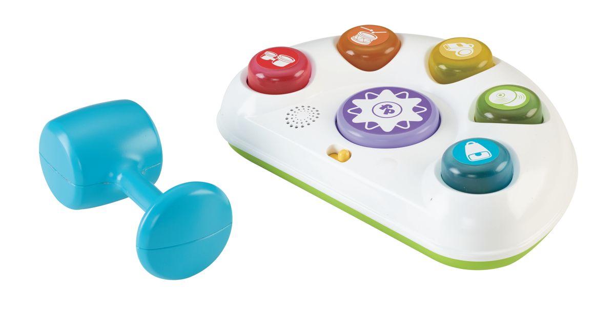 Fisher Price Развивающая игрушка Музыкальный молоточекCDC12Эта оригинальная игра состоит из пластикового молоточка и игровой базы с кнопками, которая имеет полукруглую форму и прекрасно подходит для малышей! На игрушке расположены пять ярких игровых кнопок и большая кнопка сброса. Нажимая на кнопки, малыш может сам активировать музыку, звуки и яркие цветные огоньки. Игра растет вместе с малышом - от Уровня 1 Изучаем через Уровень 2 Танцуем под музыку к Уровню 3 Играем с огоньками. Каждая из пяти больших цветных кнопок подсвечивается каждый раз, когда малыш ударяет по ней удобным молоточком. А при нажатии на фиолетовую кнопку они все выскакивают обратно, и веселье начинается снова! Игра развивает у малышей мелкую моторику, сенсорные навыки, любознательность. Для работы требуются 3 батарейки типа АА (комплектуется демонстрационными).