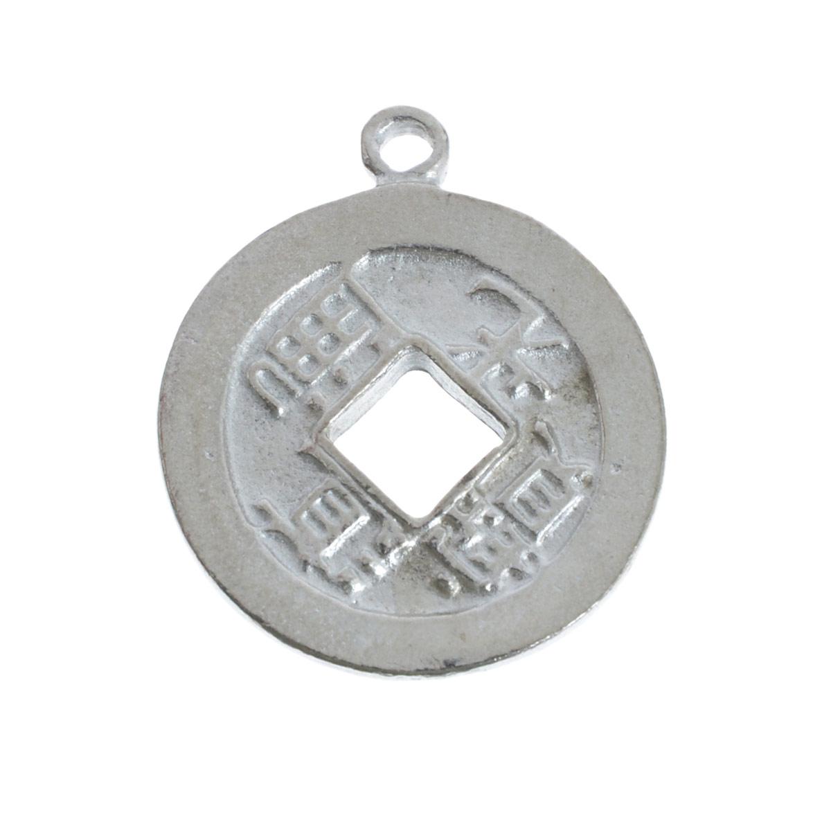 Металлическая подвеска Vintaj Денежный Талисман, диаметр 2,1 смPT002RRПодвеска Vintaj Денежный Талисман выполнена из металла в виде монеты, приносящей удачу. Используется для изготовления украшений. Сделает ваш аксессуар неповторимым. Также может использоваться для украшения альбома, открыток, блокнотов, закладок, подарков. Изготовление украшений - занимательное хобби и реализация творческих способностей рукодельницы. Радуйте себя и своих близких украшениями, сделанными своими руками! Диаметр подвески: 21 мм.