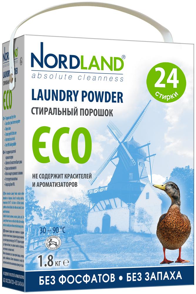 Стиральный порошок Nordland Eco для белых и цветных тканей, 1,8 кг392401Стиральный порошок Nordland Eco нового поколения не содержит фосфатов и не имеет запаха, специально создан для машинной и ручной стирки при температуре 30-90°С. Порошок подходит для стирки как белых, так и цветных тканей из натуральных, синтетических и смесовых волокон. Может использоваться для стирки верхней одежды, свитеров, курток, комбинезонов. Особенности: - Не содержит красителей и ароматизаторов; - Заботится об экосистеме вашего дома; - Хорошо выполаскивается; - Мягко очищает и ухаживает за тканями; - Не тестируется на животных; - Биораспад более 90%. Товар сертифицирован.