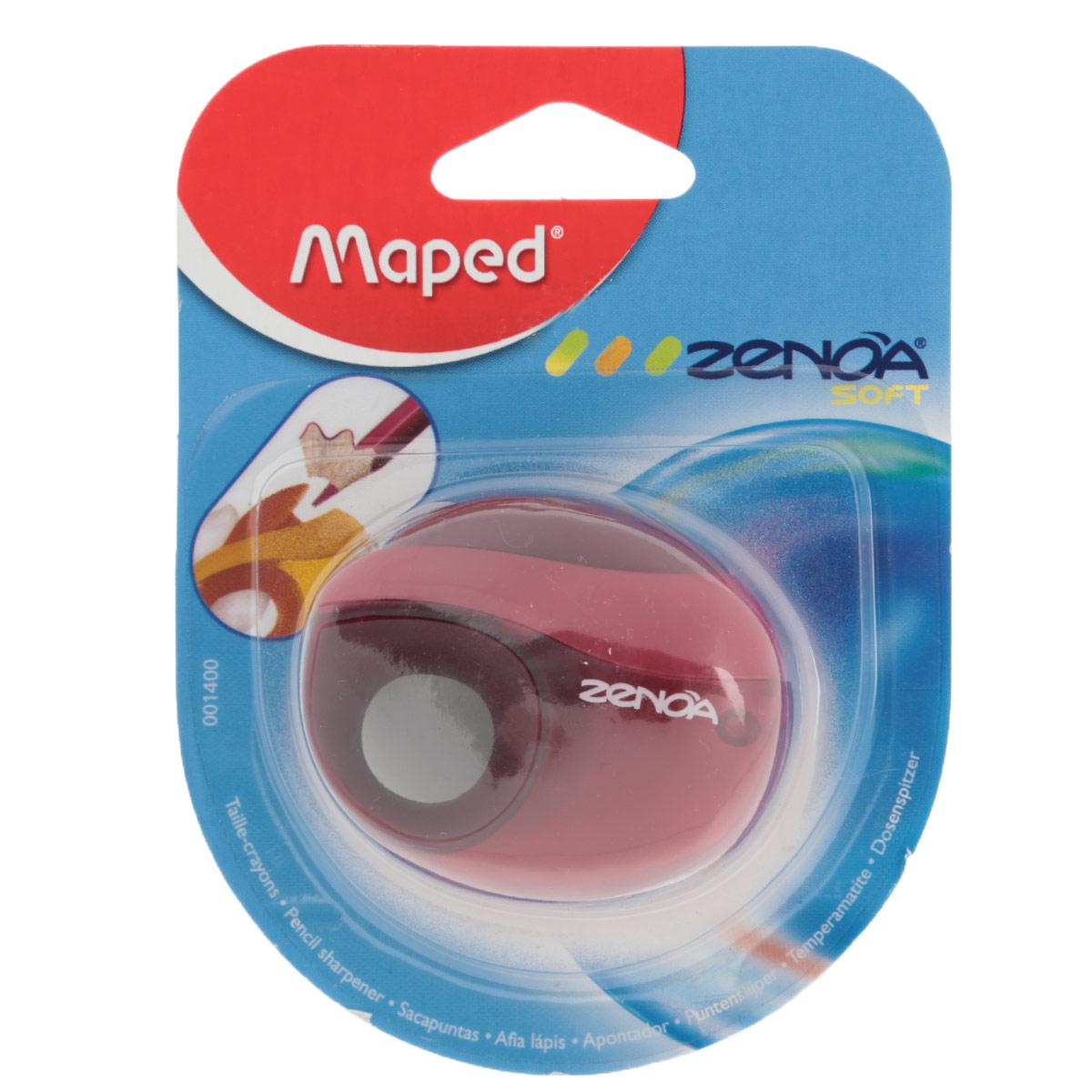 """Точилка Maped """"Zenoa"""", с контейнером, цвет: красный 1400_красный"""