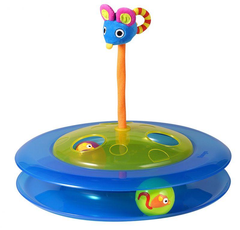 Игрушка для кошек Petstages Трек с двумя мячиками367YEXИгрушка для кошек Petstages Трек с двумя мячиками представляет собой два полупрозрачных пластиковых шарика и плюшевую мышку, наполненную кошачьей мятой. Два шарика, катаясь, предлагают вашей кошке поиграть, а плюшевая мышка сверху игрушки предназначена для поддержания интереса к игре. Высота мышки: 17 см. Диаметр игрушки: 31 см. Высота игрушки: 7,5 см. Диаметр мячика: 4 см. Товар сертифицирован.