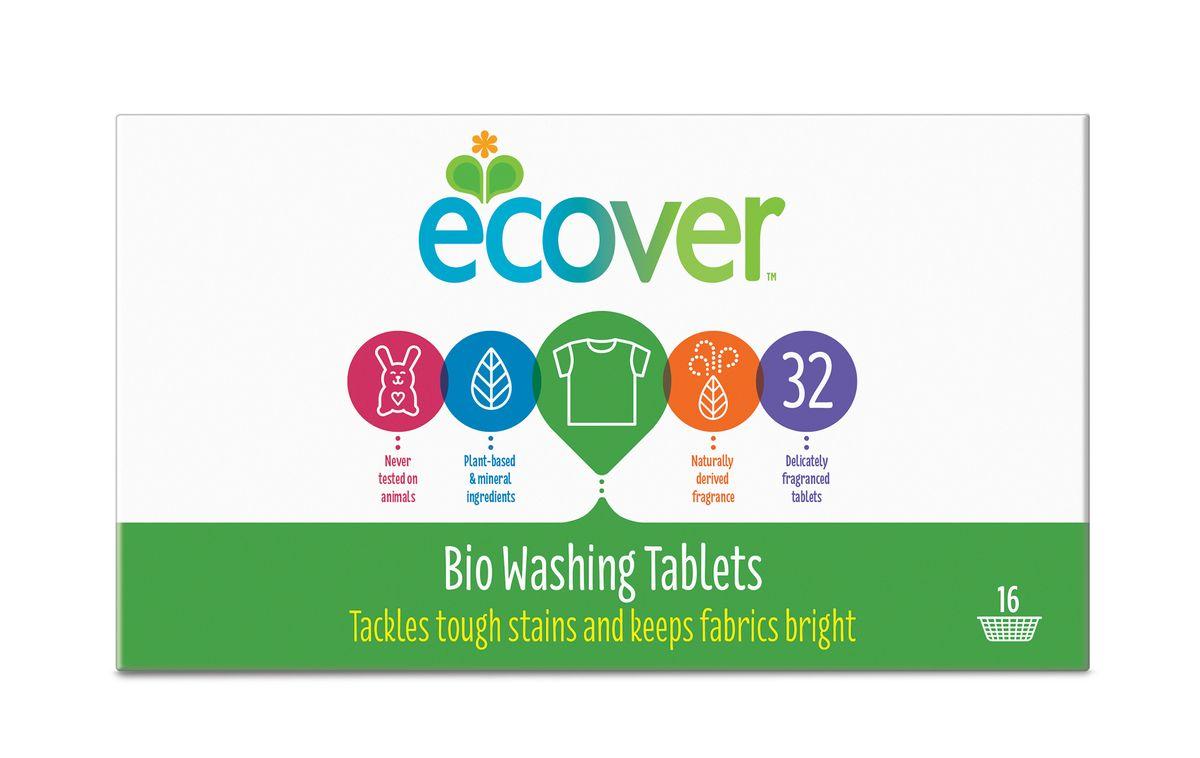 Экологические таблетки для стирки Ecover, 32 шт00192Высокоэффективное универсальное средство Ecover для стирки белого и нелиняющего цветного белья. Создано на основе растительных ПАВ. Прекрасно отстирывает при низкой температуре и очень хорошо выполаскивается. Содержит небольшое количество бережного кислородного отбеливателя для удаления таких загрязнений как пятна от вина, фруктов, травы и т.д. При машинной стирке не требуется добавление средств для смягчения воды и предотвращения образования накипи (типа Calgon). Каждая таблетка имеет индивидуальную упаковку. Обладает натуральным свежим лимонным ароматом. Не содержит фосфатов и синтетических ароматизаторов. Содержит энзимы (не ГМО) и натуральный кислородный отбеливатель. Уровень pH: 10.5. Подходит для использования в домах с автономной канализацией. Не наносит вреда любым видам септиков! Характеристики: Состав: 15-30% кислородный отбеливатель, цеолиты, 5-15% анионные и неионные ПАВ, целлюлоза, дисиликат, биакрбонат, ...