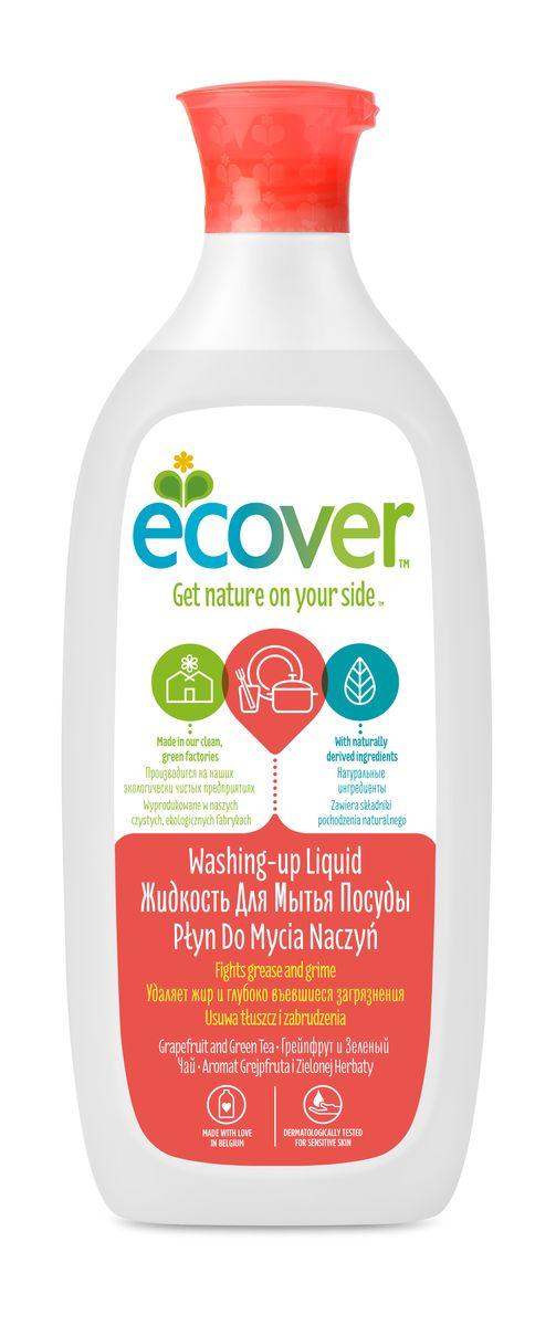 """Экологическая жидкость для мытья посуды """"Ecover"""", с грейпфрутом и зеленым чаем, 500 мл 00980"""