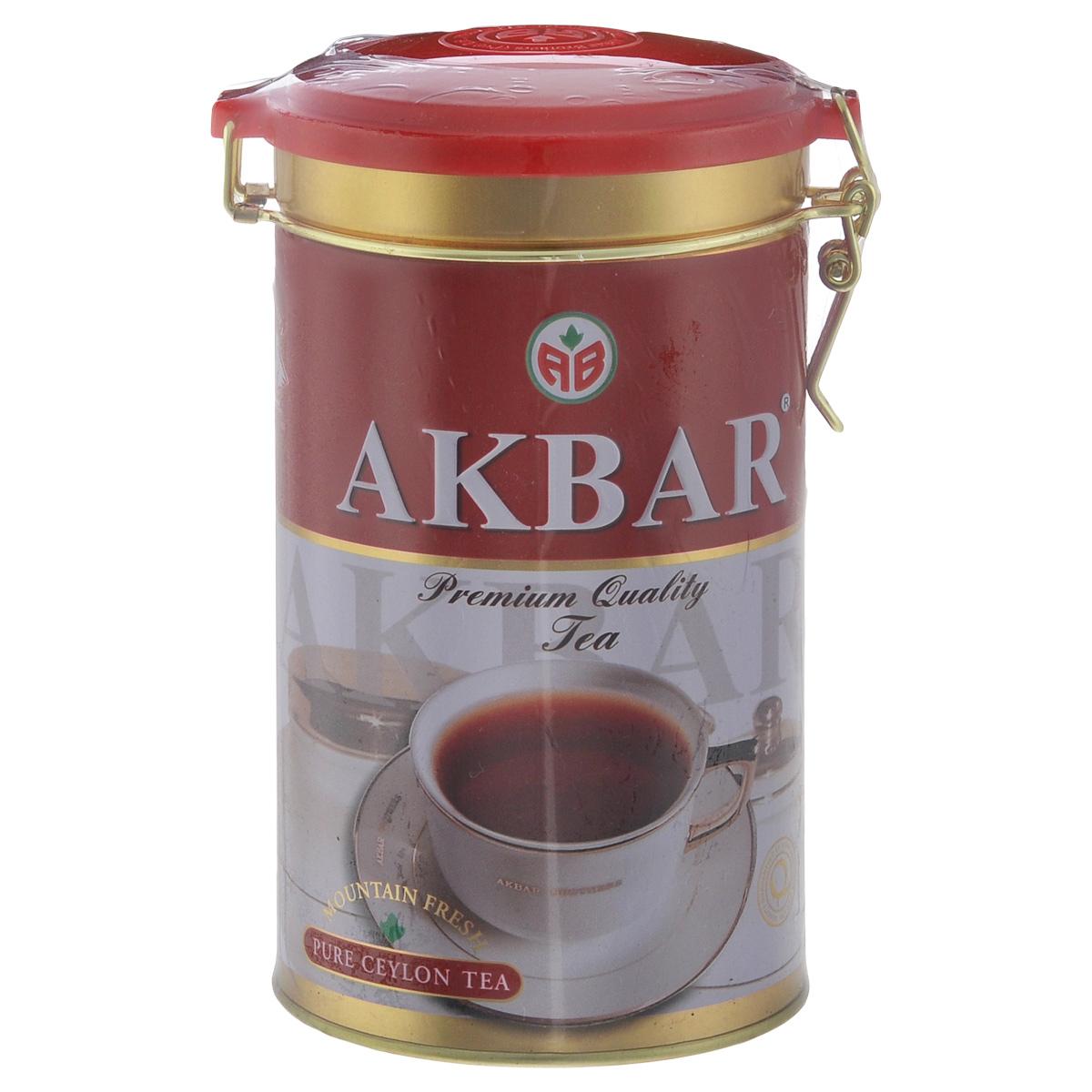 Akbar Mountaun Fresh черный листовой чай, 150 г1042011Akbar Mountaun Fresh - сорт чая, в котором воедино сливаются прошлое и настоящее ланкийского чаепроизводства, главная отличительная черта которого - постоянное стремление к повышению качества выпускаемой продукции.
