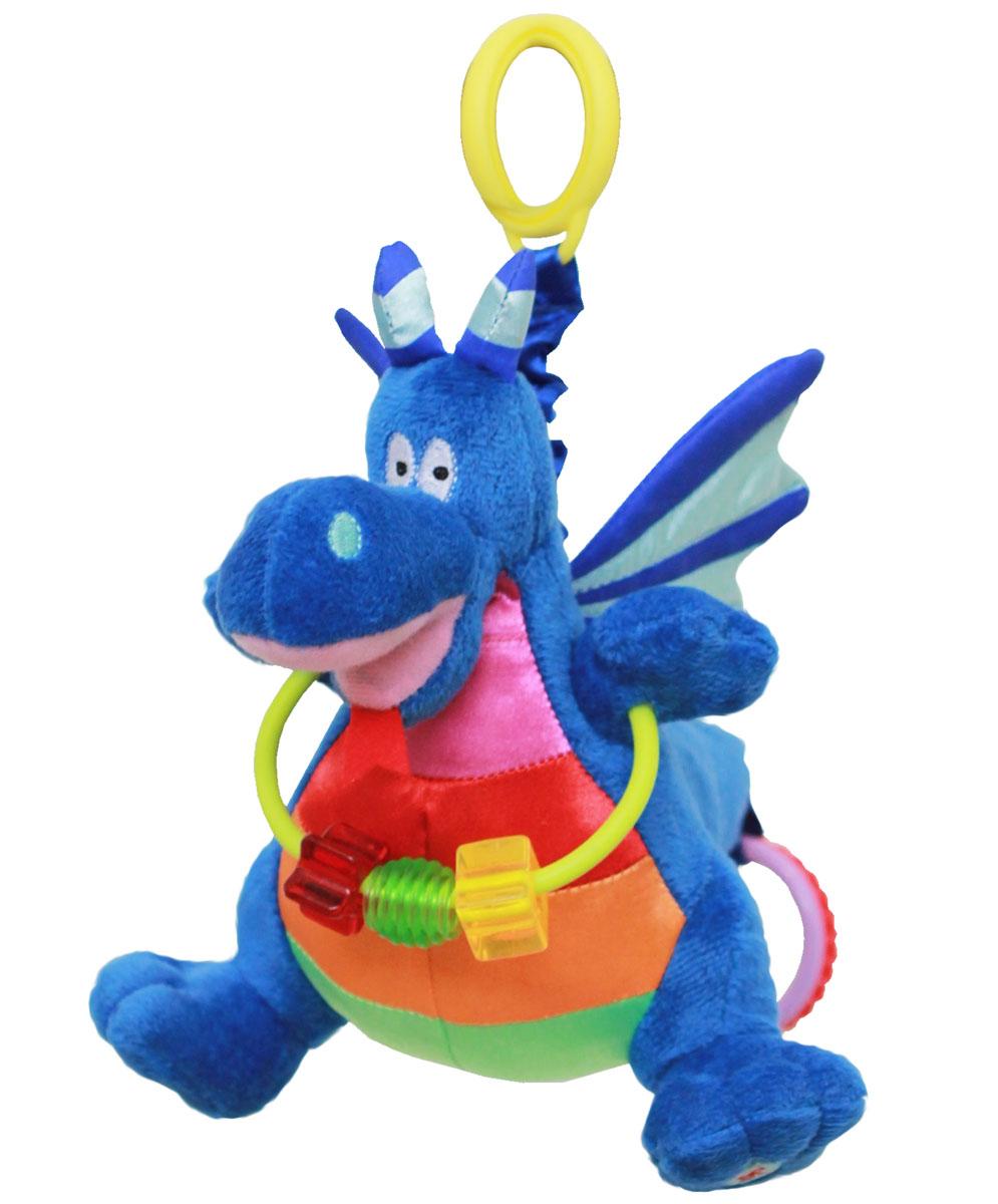 WeeWise Подвесная игрушка для коляски и автокресла Дракон Джеки20113Игрушка крепится к козырьку –тенту прогулочной коляски или к ручке детского автокресла категории 0+. «Дракон Джекки» выполнен в ярких цветах , обладает движущимися частями и снабжен звуковыми элементами. Игрушка способствует развитию зрительного, слухового и тактильного восприятия. Стимулирует хватательные навыки ребенка, помогает тренировке мелкой моторики рук.