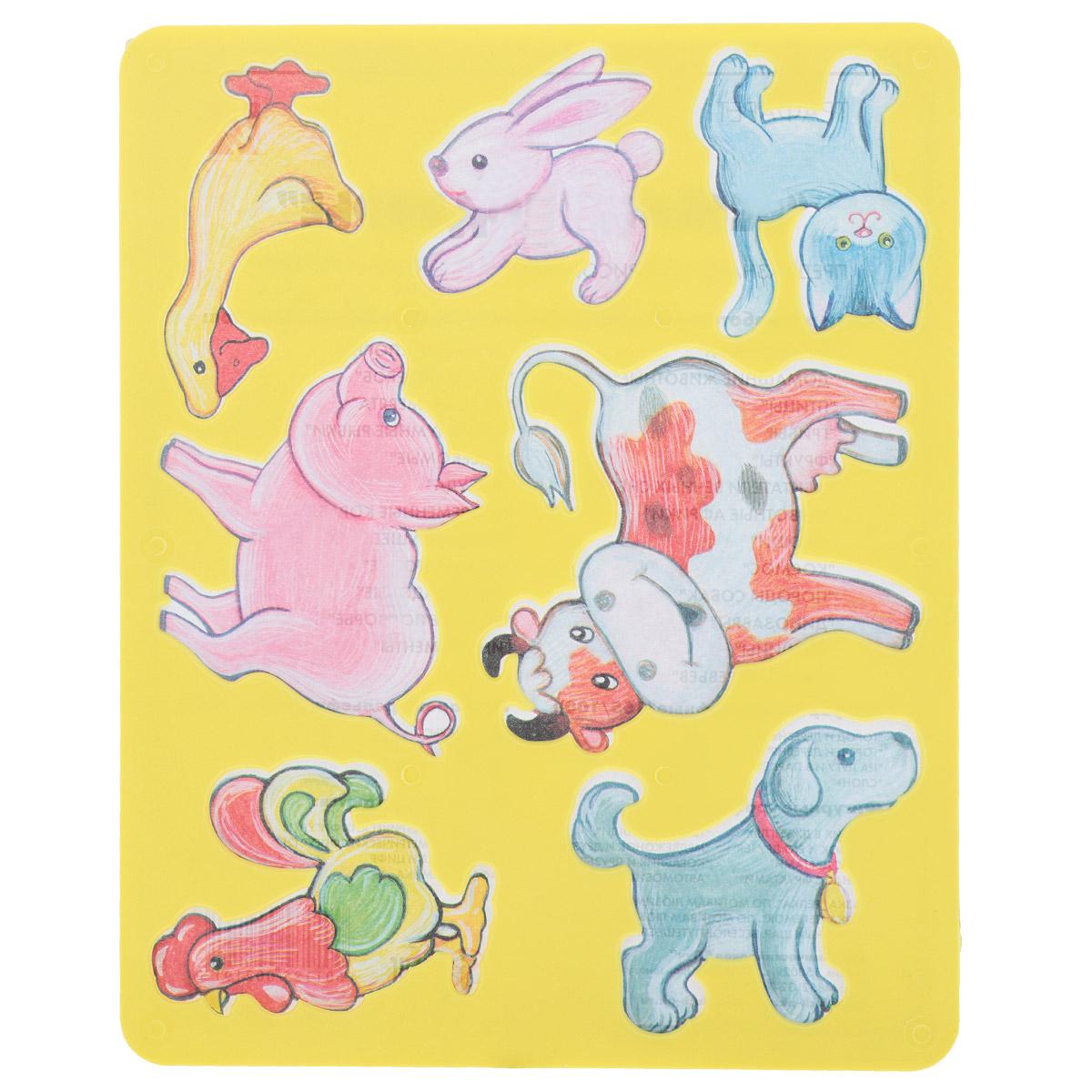Луч Трафарет прорезной Веселое подворье, цвет: желтый10С 568-08Трафарет Луч Веселое подворье, выполненный из безопасного пластика, предназначен для детского творчества. По трафарету Веселое подворье маленькие художники смогут нарисовать различных домашних животных и сюжеты с ними. Для этого необходимо положить трафарет на лист бумаги, обвести фигуру по контуру и раскрасить по своему вкусу или глядя на цветную картинку-образец. Трафареты предназначены для развития у детей мелкой моторики и зрительно-двигательной координации, навыков художественной композиции и зрительного восприятия.