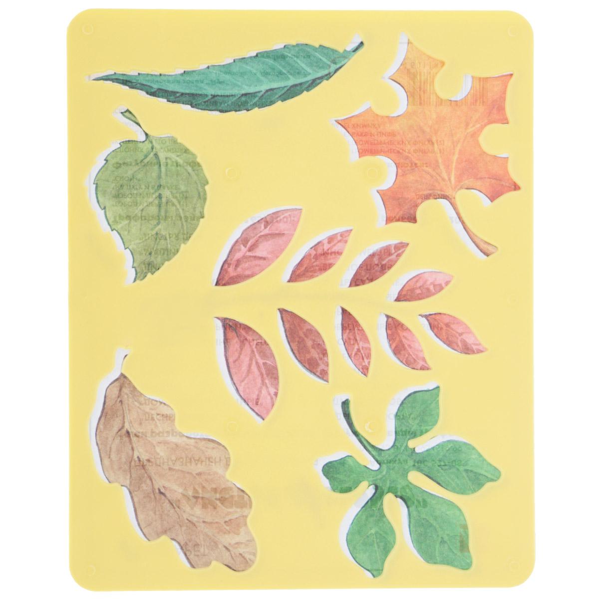 Луч Трафарет прорезной Листья деревьев цвет желтый10С 527-08Трафарет Луч Листья деревьев, выполненный из безопасного пластика, предназначен для детского творчества. По трафарету маленькие художники смогут нарисовать листочки различных деревьев. Для этого необходимо положить трафарет на лист бумаги, обвести фигуру по контуру и раскрасить по своему вкусу или глядя на цветную картинку-образец. Трафареты предназначены для развития у детей мелкой моторики и зрительно-двигательной координации, навыков художественной композиции и зрительного восприятия.