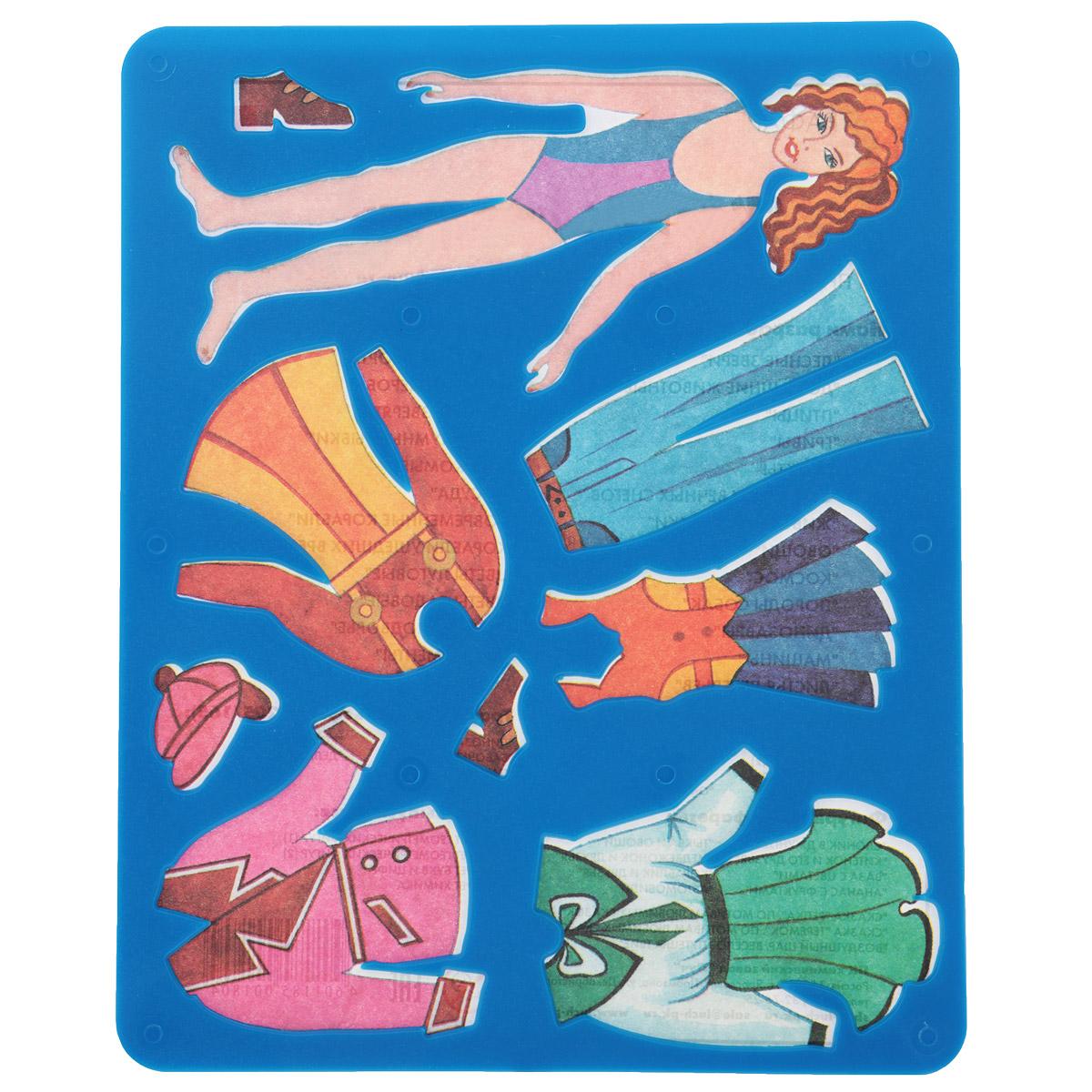 Трафарет прорезной Луч Катин гардероб10С 529-08Трафарет Луч Катин гардероб, выполненный из безопасного пластика, предназначен для детского творчества. По трафарету Катин гардероб маленькие художницы смогут нарисовать кукольные наряды и играть с бумажными куклами, создавая им новые образы. Для этого необходимо положить трафарет на лист бумаги, обвести фигуру по контуру и раскрасить по своему вкусу или глядя на цветную картинку-образец. Трафареты предназначены для развития у детей мелкой моторики и зрительно-двигательной координации, навыков художественной композиции и зрительного восприятия.