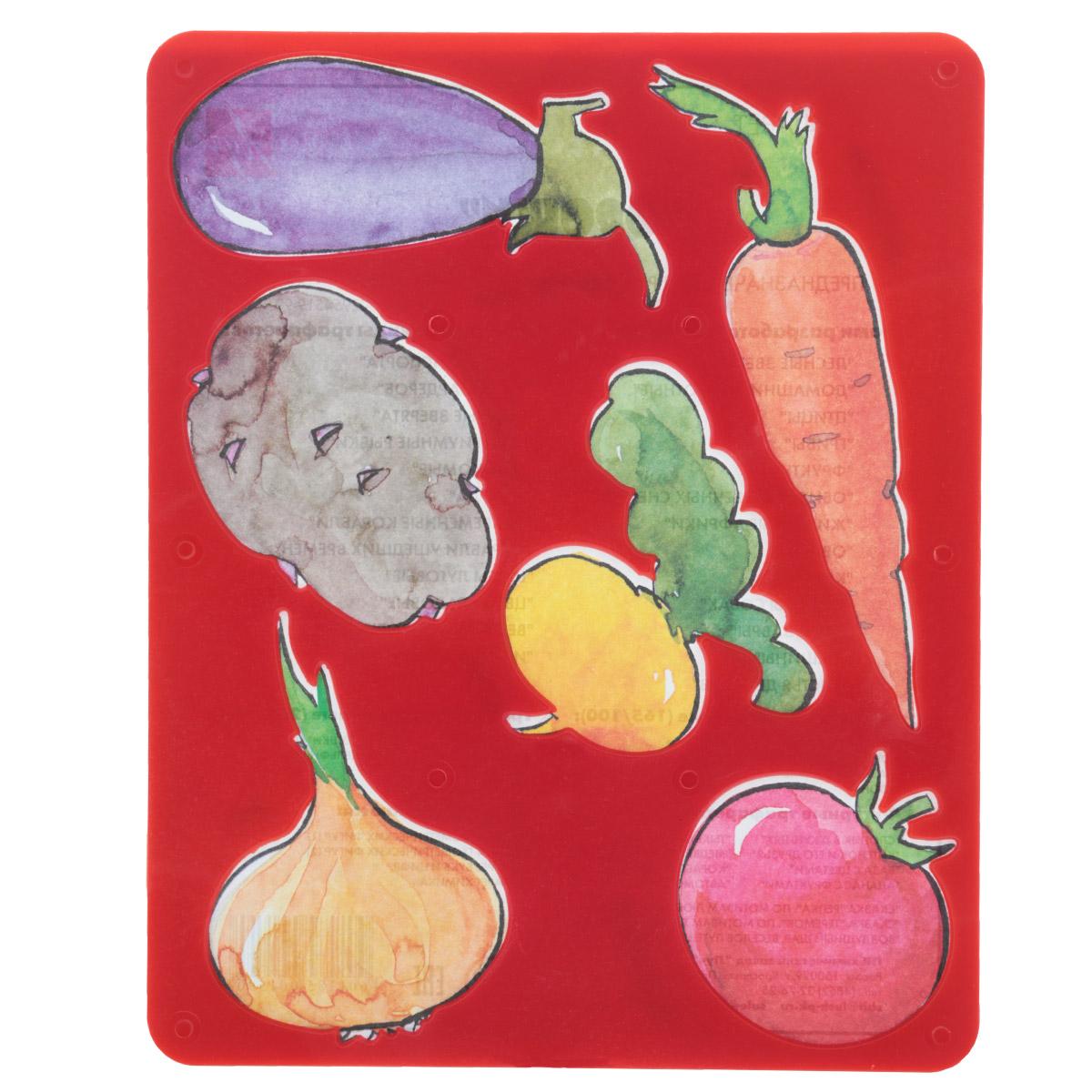 Луч Трафарет прорезной Овощи9С 487-08Трафарет Луч Овощи, выполненный из безопасного пластика, предназначен для детского творчества. По трафарету маленький художник сможет нарисовать и отдельные плоды , и композиции из них. Для этого необходимо положить трафарет на лист бумаги, обвести фигуру по контуру и раскрасить по своему вкусу или глядя на цветную картинку-образец. Трафареты предназначены для развития у детей мелкой моторики и зрительно-двигательной координации, навыков художественной композиции и зрительного восприятия.