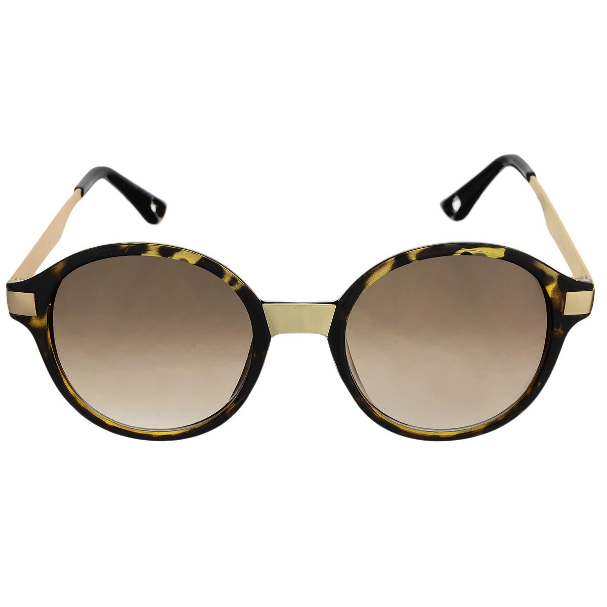 Солнцезащитные очки женские Selena, цвет: коричневый, золотой. 8003100180031001Солнцезащитные женские очки Selena, выполненные с линзами из высококачественного пластика PC с зеркальным эффектом fresh mirror, оправа оформлена принтом леопард. Используемый пластик не искажает изображение, не подвержен нагреванию и вредному воздействию солнечных лучей. Линзы данных очков с высокоэффективным UV-фильтром обеспечивают полную защиту от ультрафиолетовых лучей. Металлическая оправа очков легкая, прилегающей формы и поэтому не создает никакого дискомфорта. Такие очки защитят глаза от ультрафиолетовых лучей, подчеркнут вашу индивидуальность и сделают ваш образ завершенным.