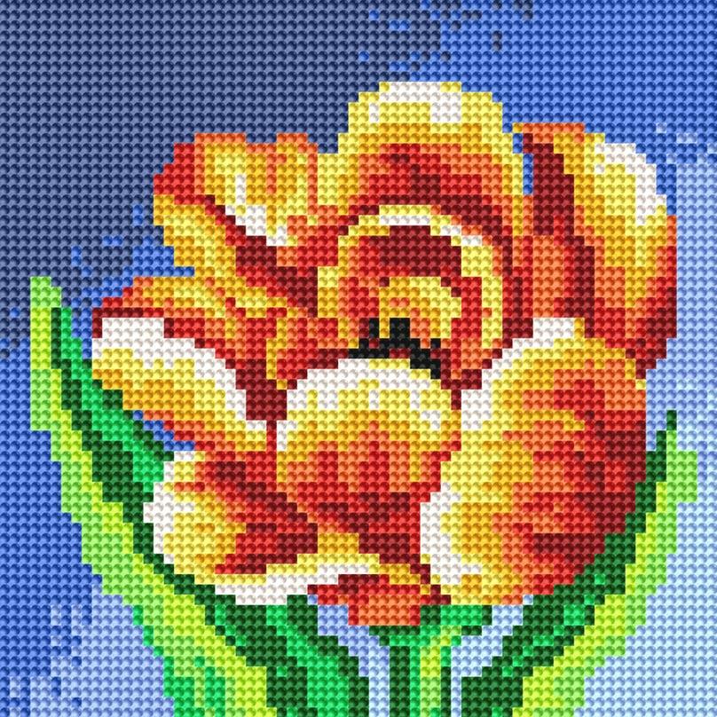 Набор для творчества Алмазная мозаика. Махровый тюльпан, 20 х 20 см016-RS-R Махровый тюльпанНабор для творчества Алмазная мозаика. Махровый тюльпан поможет вам создать свой личный шедевр - красивую картину, выполненную в мозаичной технике. Каждый камушек выполнен из прочного материала, огранен по типу драгоценных камней и при попадании на грани солнечного или искусственного света образуется мерцающее полотно. Мозаичные картины - это новый вид творчества, который поможет создать прекрасное украшение для вашего дома. В наборе имеется холст с нанесенной схемой. С помощью пинцета стразы размещаются на холст. В результате проявляется рисунок. Для создания картины нужно лишь выложить мозаику по схеме. Вы получите огромное наслаждение от творчества. В набор входит: - основа картины - холст на подрамнике, - комплект круглых искусственных камней, диаметр 2,8 мм, 15 цветов, - пинцет, - пластмассовый лоток для камней, - пластмассовый карандаш для камней, - жидкий клей.