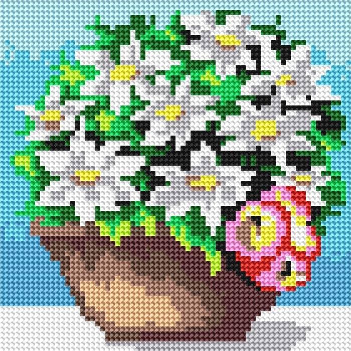 Набор для творчества Алмазная мозаика. Комнатные цветы, 20 х 20 см020-RS-R Комнатные цветыНабор для творчества Алмазная мозаика. Комнатные цветы поможет вам создать свой личный шедевр - красивую картину, выполненную в мозаичной технике. Каждый камушек выполнен из прочного материала, огранен по типу драгоценных камней и при попадании на грани солнечного или искусственного света образуется мерцающее полотно. Мозаичные картины - это новый вид творчества, который поможет создать прекрасное украшение для вашего дома. В наборе имеется холст с нанесенной схемой. С помощью пинцета стразы размещаются на холст. В результате проявляется рисунок. Для создания картины нужно лишь выложить мозаику по схеме. Вы получите огромное наслаждение от творчества. В набор входит: - основа картины - холст на подрамнике, - комплект круглых искусственных камней, диаметр 2,8 мм, 16 цветов, - пинцет, - пластмассовый лоток для камней, - пластмассовый карандаш для камней, - жидкий клей.
